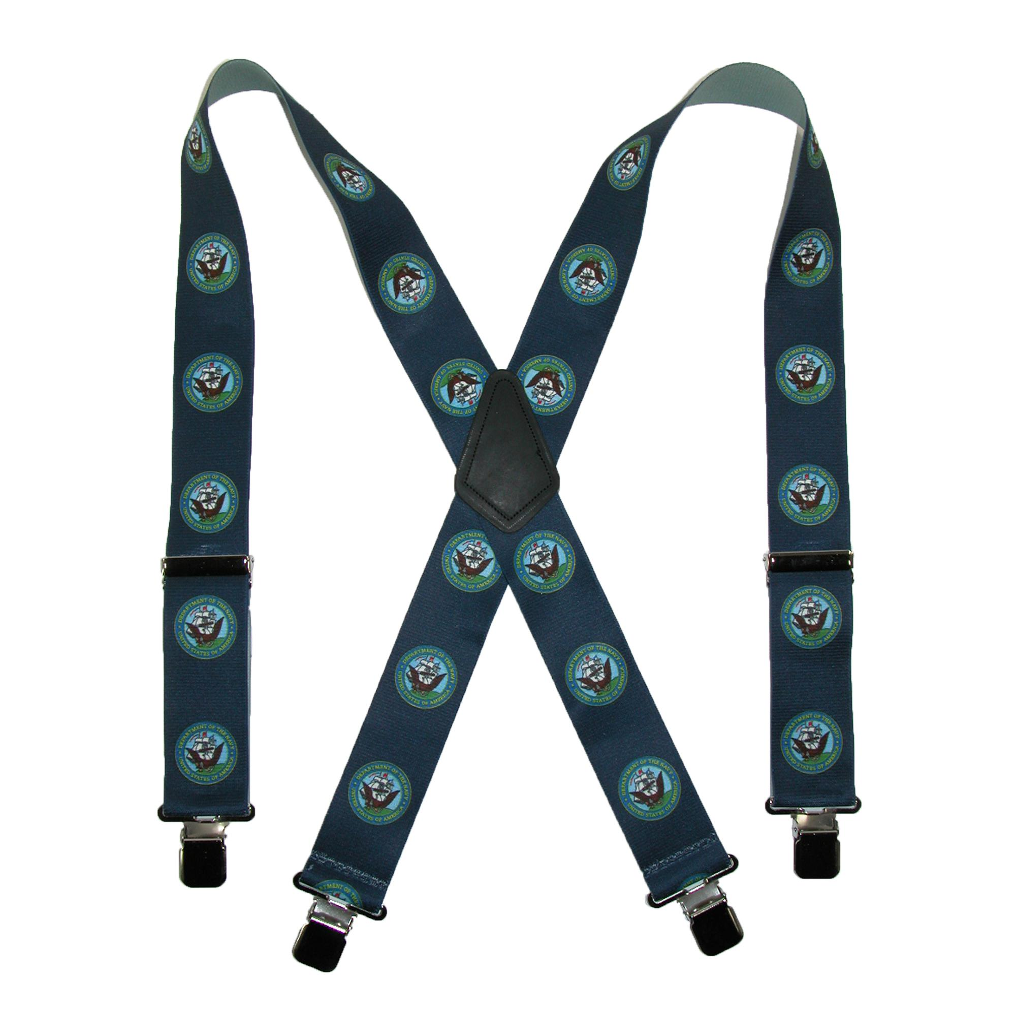 CTM_Men's_Elastic_Clip-End_2_Inch_US_Navy_Suspenders_(Tall_Available)
