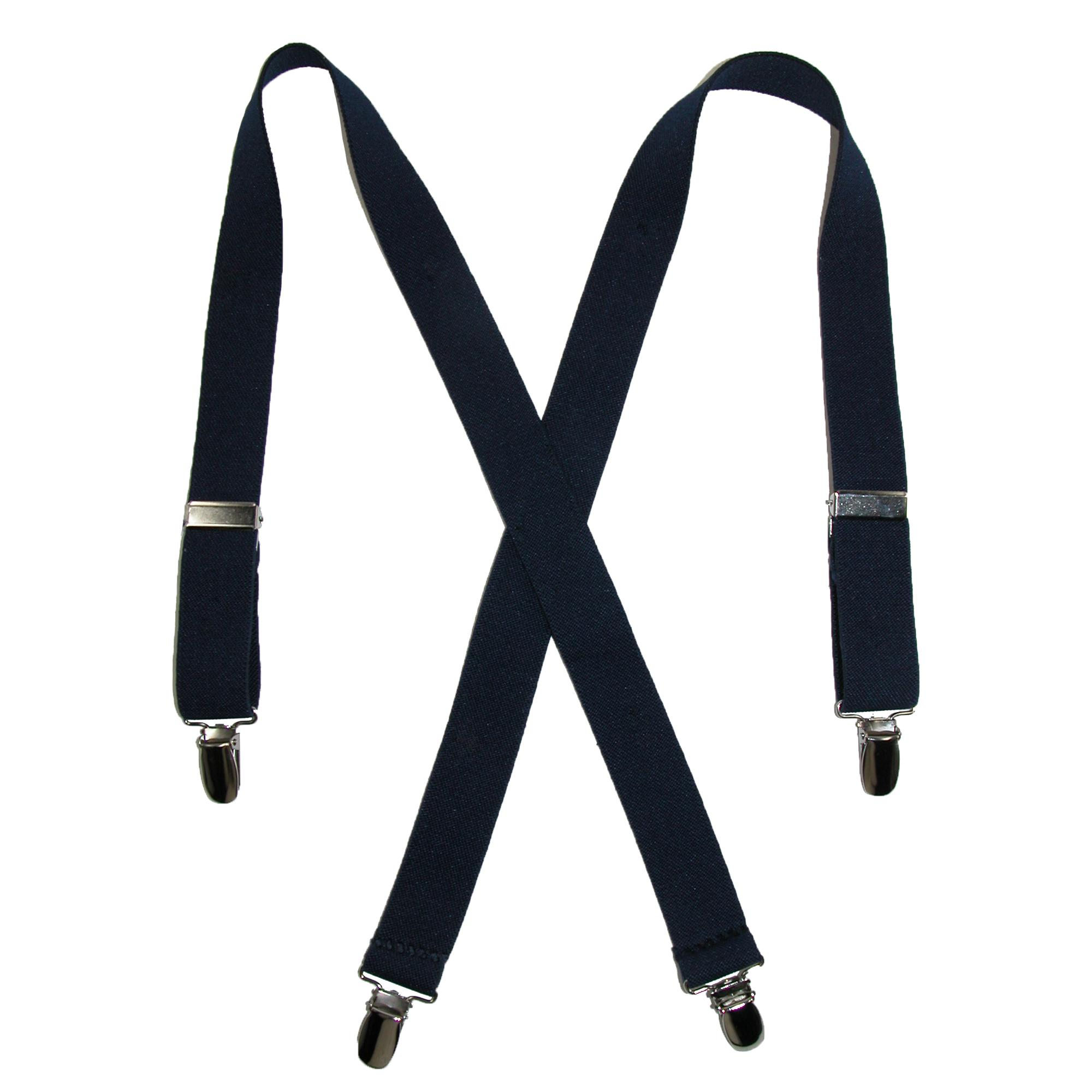 CTM_Kids'_Elastic_Clip-End_1_Inch_Solid_Suspenders_-_Navy_one_size