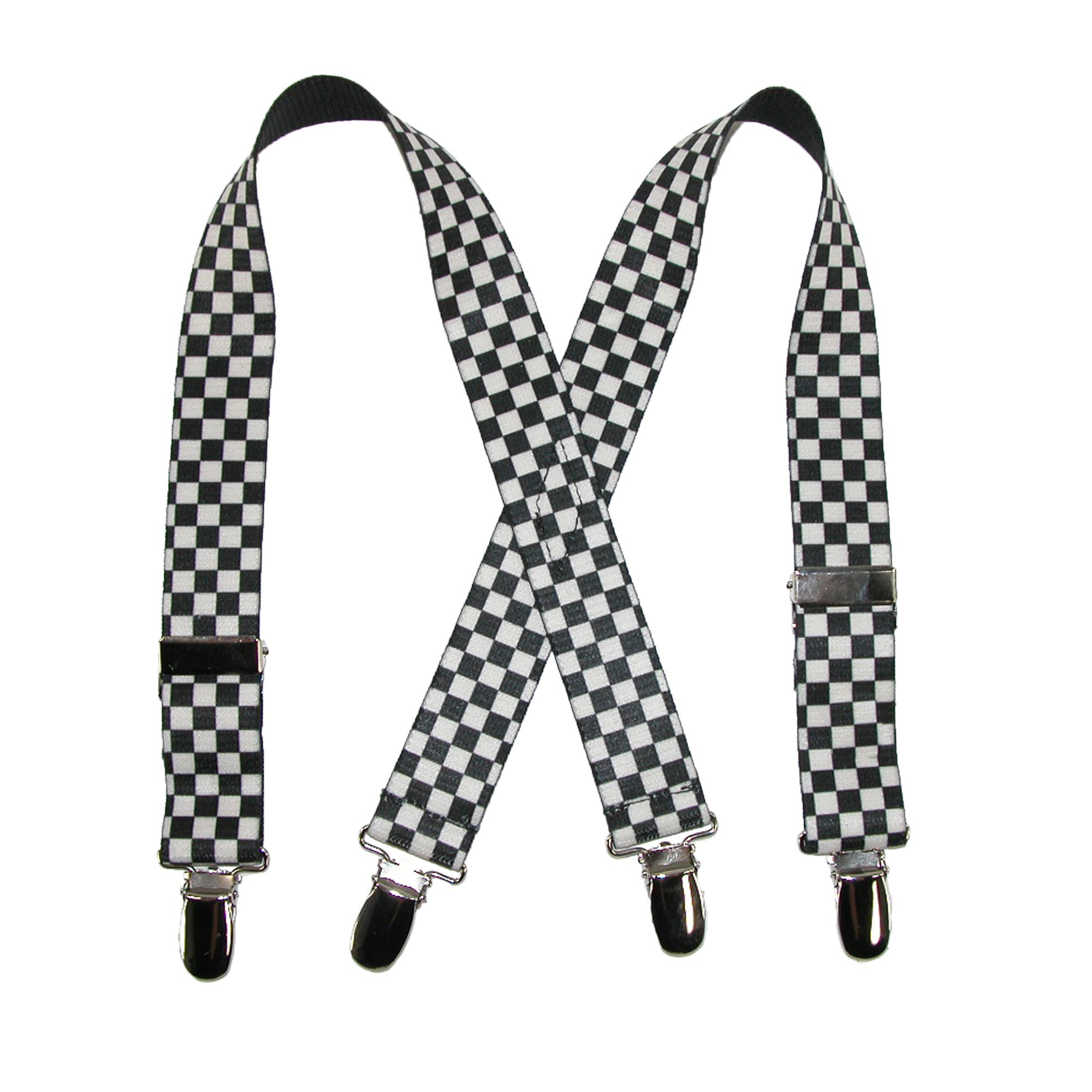 CTM_Infants'_Elastic_Clip-End_1_Inch_Checkered_Suspenders_-