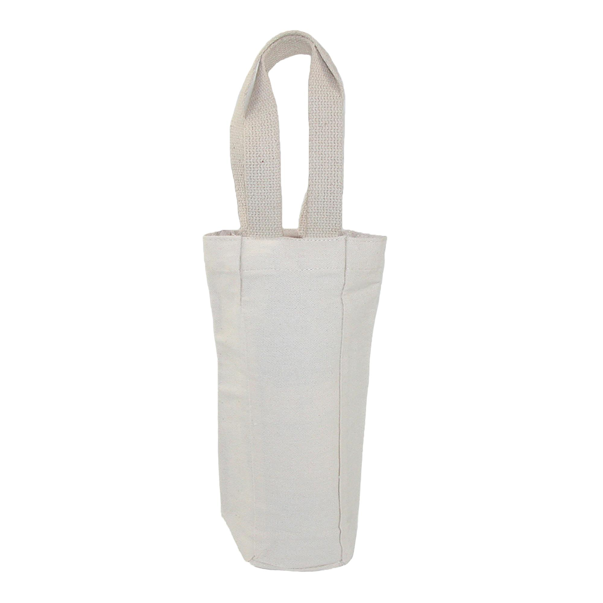 Liberty Bags Canvas Single Bottle Wine Tote