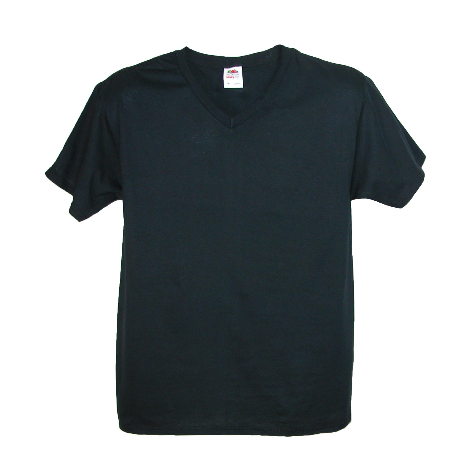 New fruit of the loom big and tall v neck cotton t shirt for Tall v neck t shirts