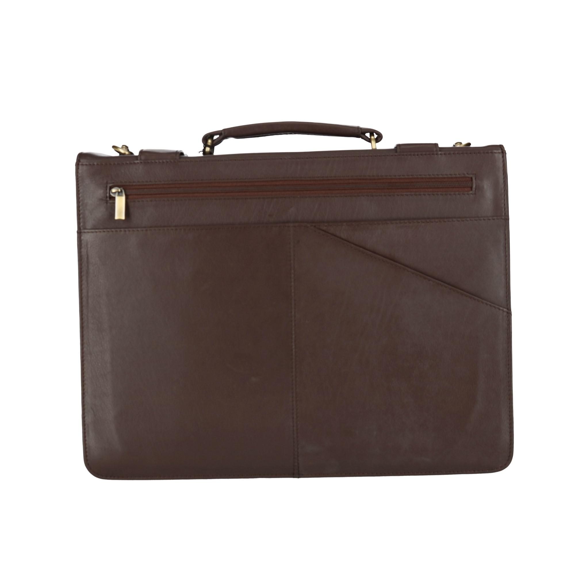 8869d0af3e42 Details about New CTM Men's Classic Leather Briefcase with Laptop  Compartment