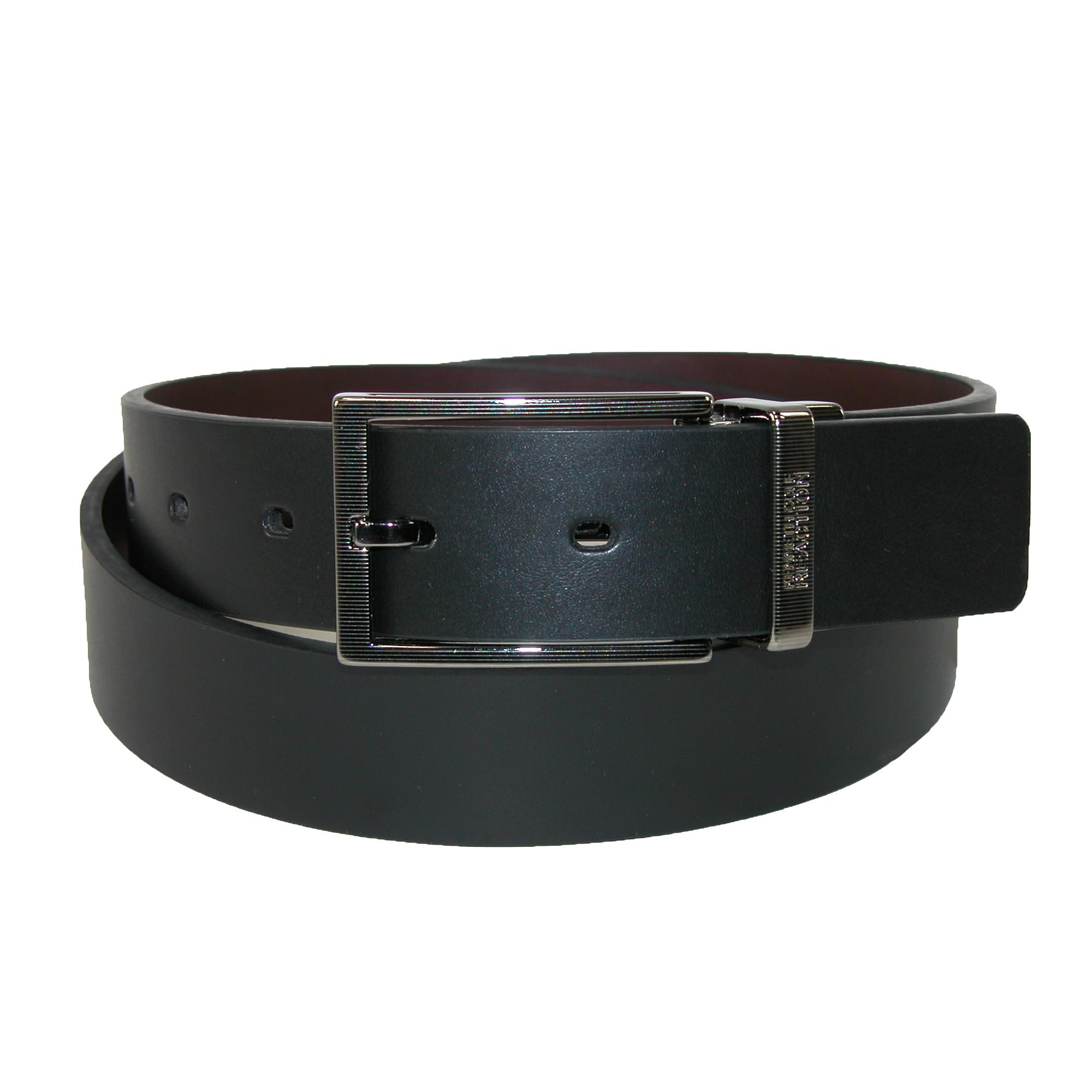 Kenneth Cole Reaction Mens Cut Edge Rerversible Belt With Detail Buckle