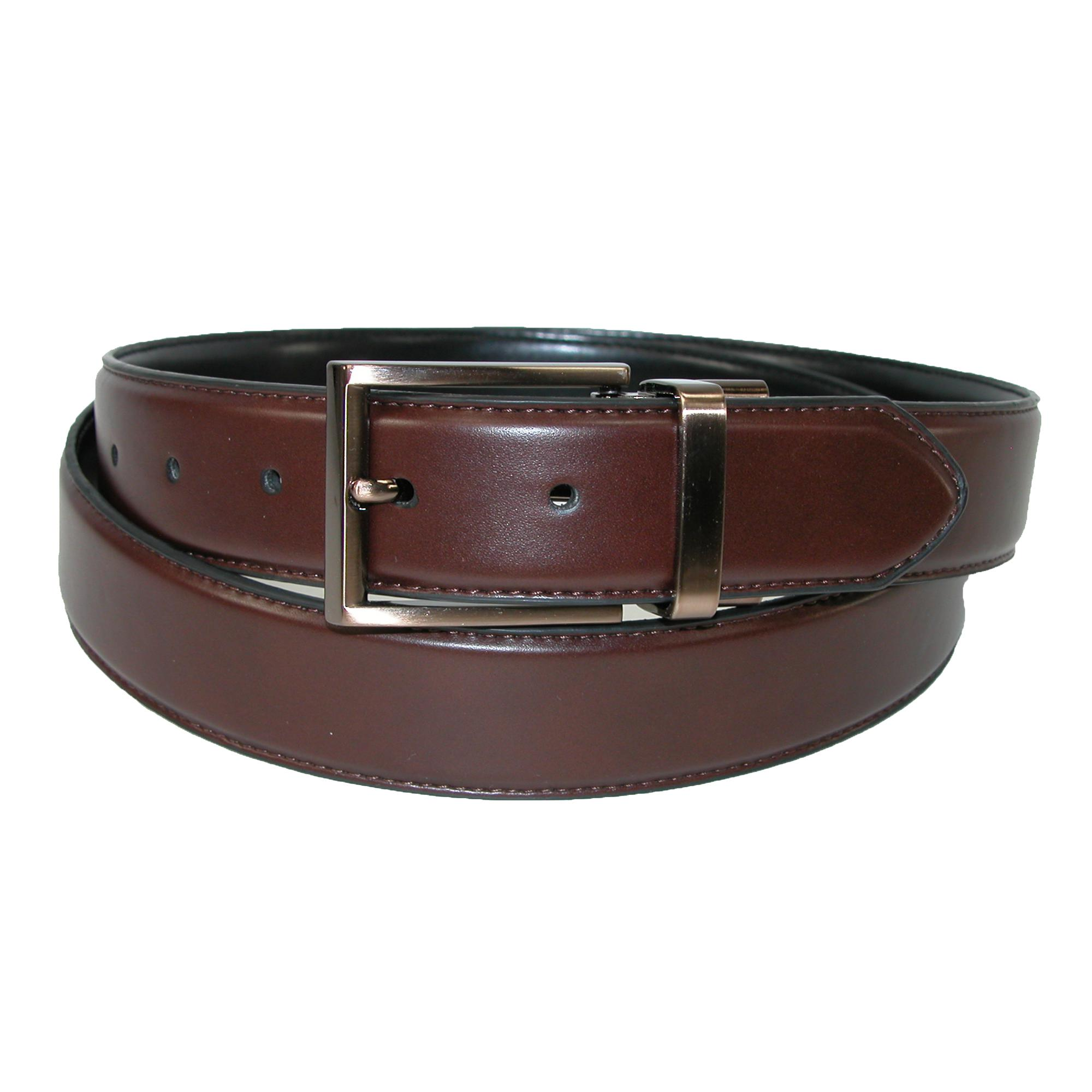 Kenneth Cole Reaction Mens Reversible Feather Edge Belt