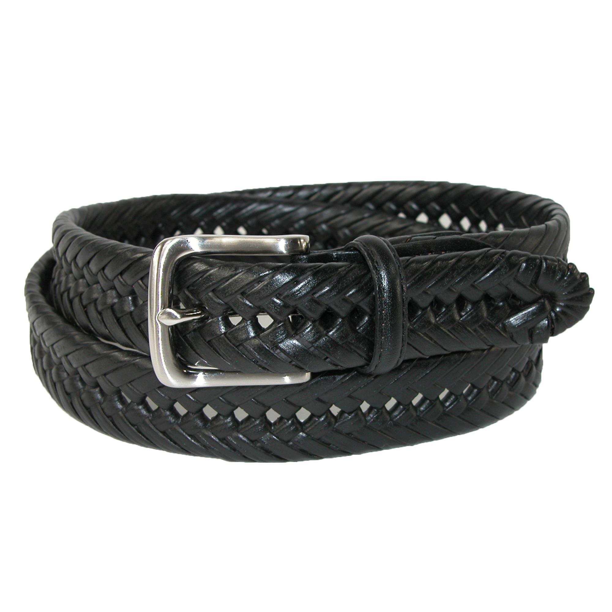 Tommy Hilfiger Men's Burnished Handlaced 1 1/4 Inch Belt
