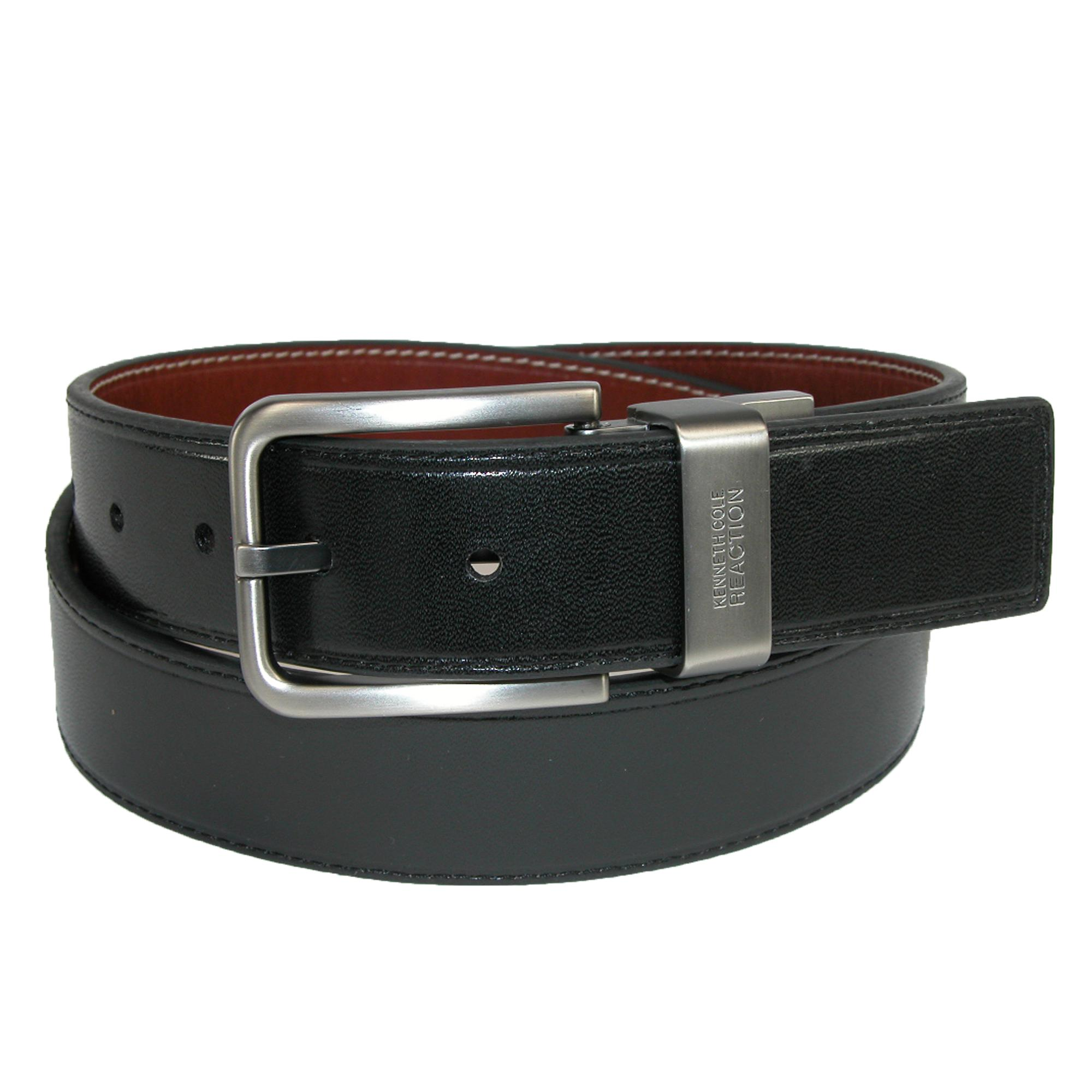 Kenneth Cole Reaction Mens Big & Tall Oil Tanned Reversible Belt