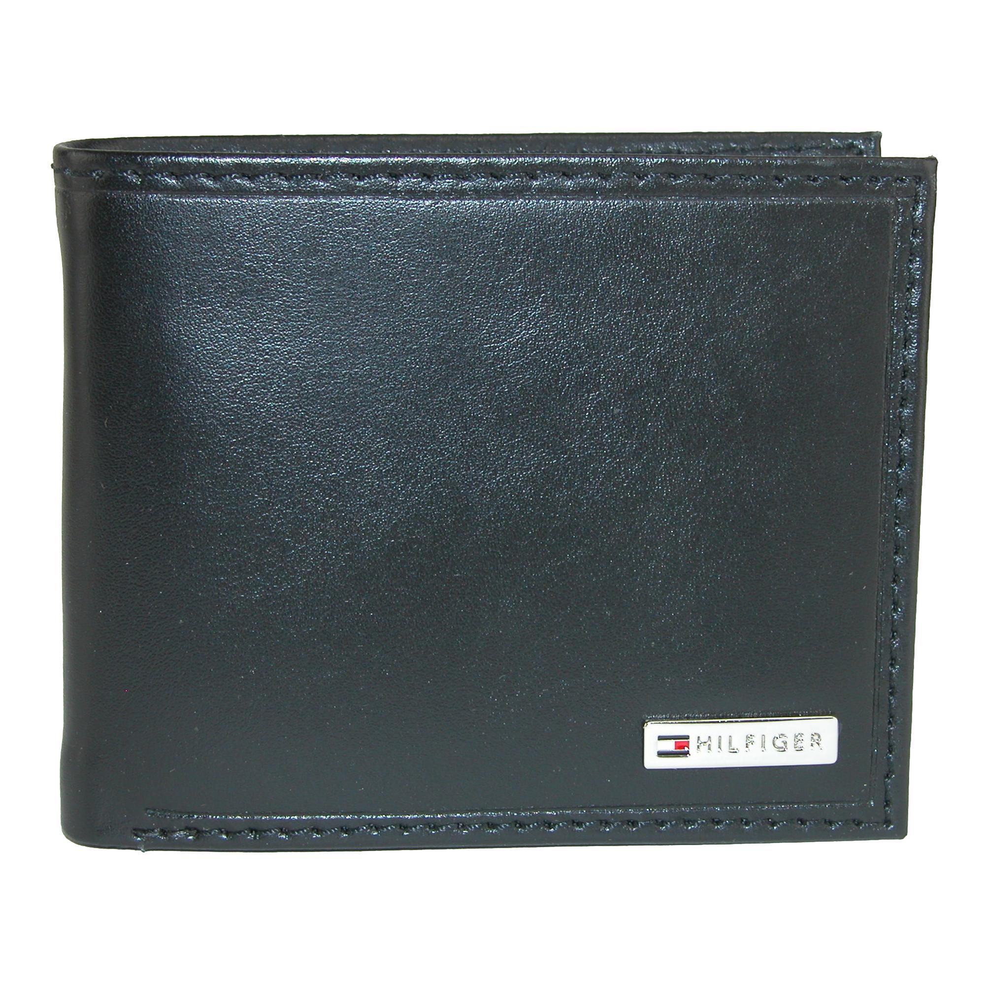Tommy Hilfiger Men's Leather Fordham Bifold Wallet With Coin Pocket