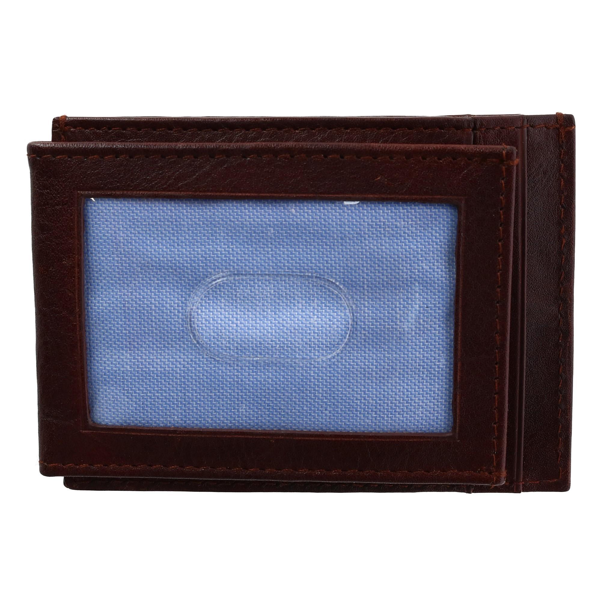 Tommy Hilfiger Men's Leather York Front Pocket Wallet With Magnetic Money Clip
