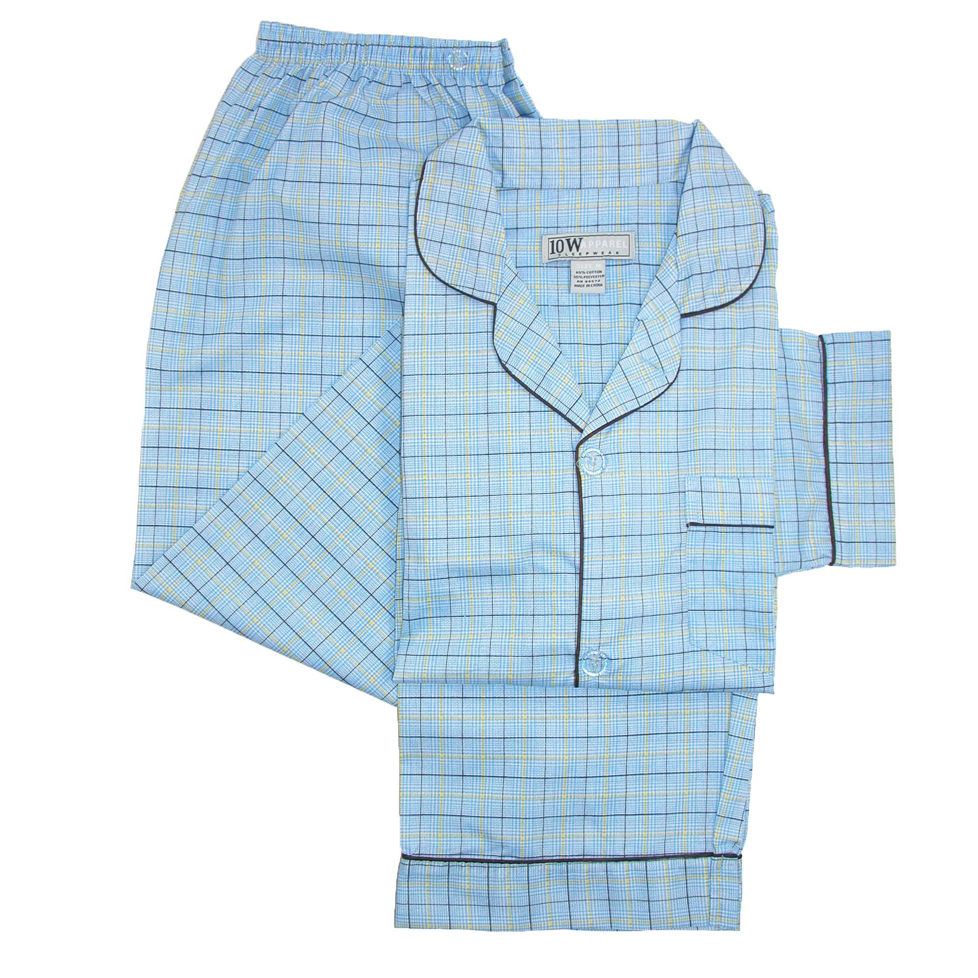 New-Ten-West-Apparel-Men-039-s-Tall-Long-Sleeve-Long-Leg-Pajamas