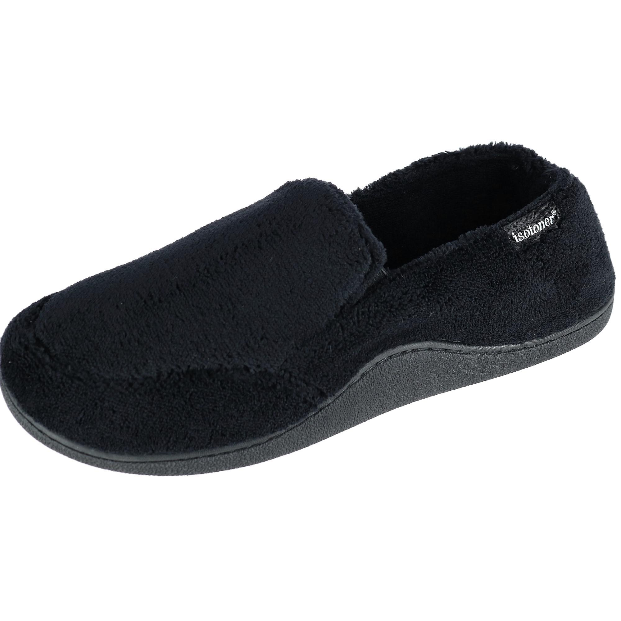 Isotoner_Mens_Microterry_Memory_Foam_IndoorOutdoor_SlipOn_Slippers