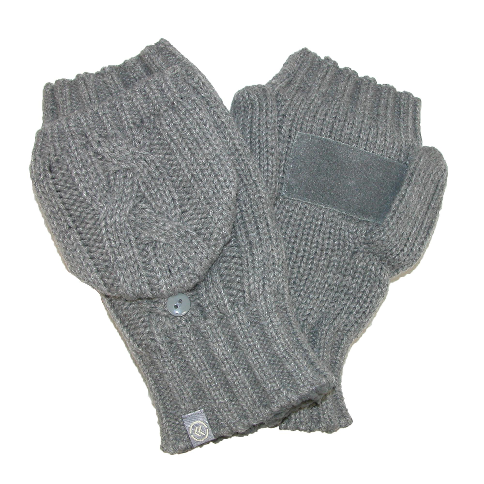 Isotoner Womens Chunky Cable Knit Convertible Gloves