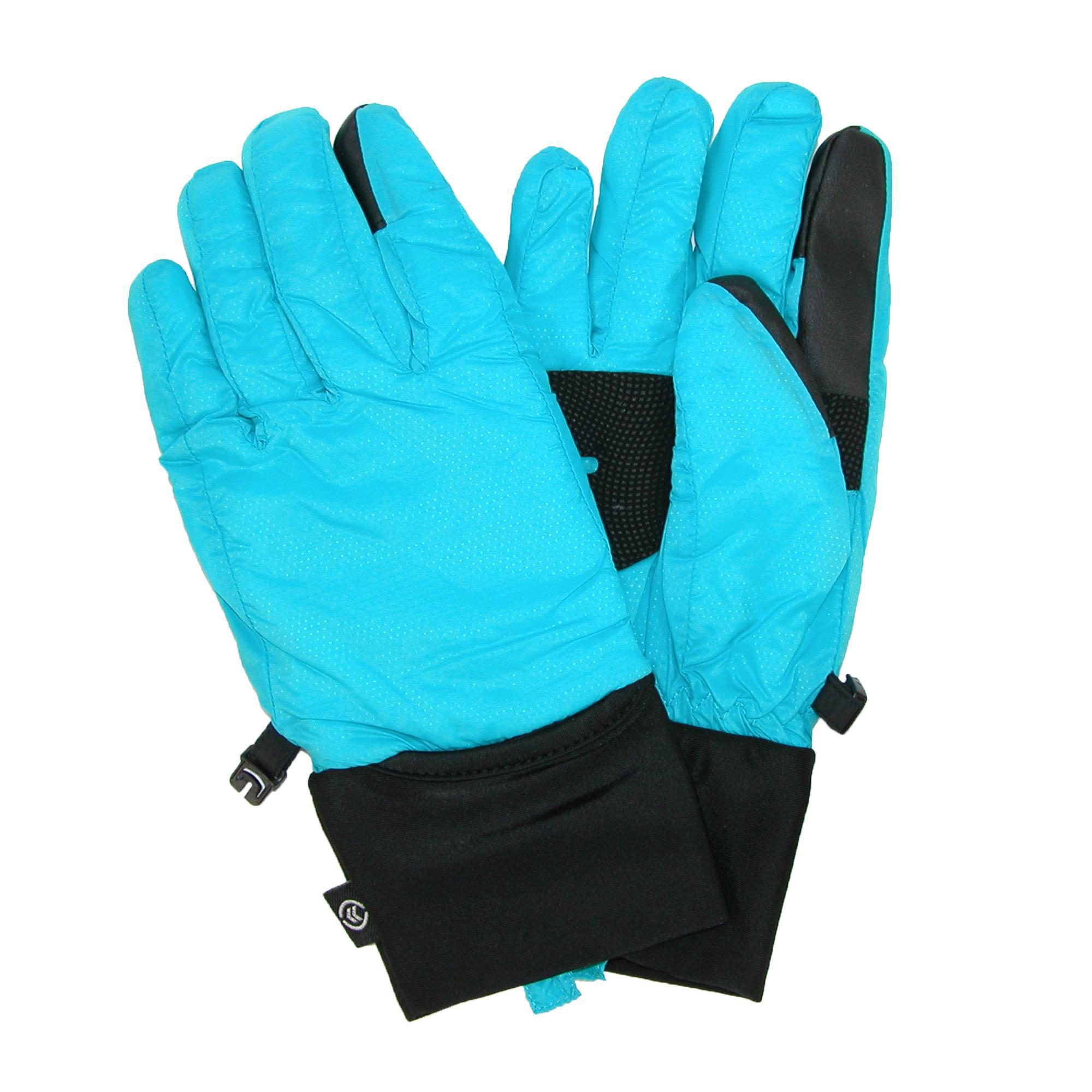 Isotoner Womens Touch Screen Gloves (packs Into Cuffs)