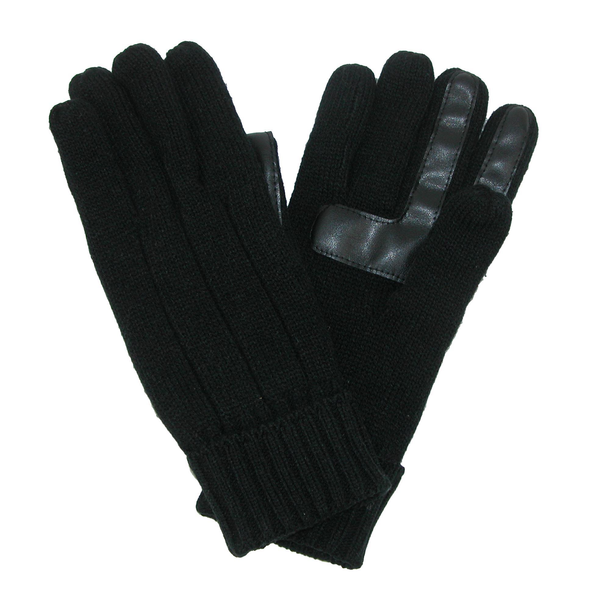 Isotoner Mens Smartdri Knit Smartouch Winter Glove