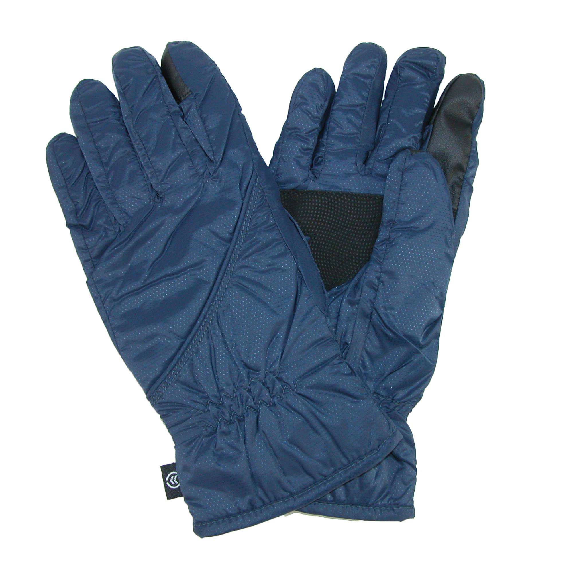 Isotoner Mens Touch Screen Gloves (packs Into Cuff)
