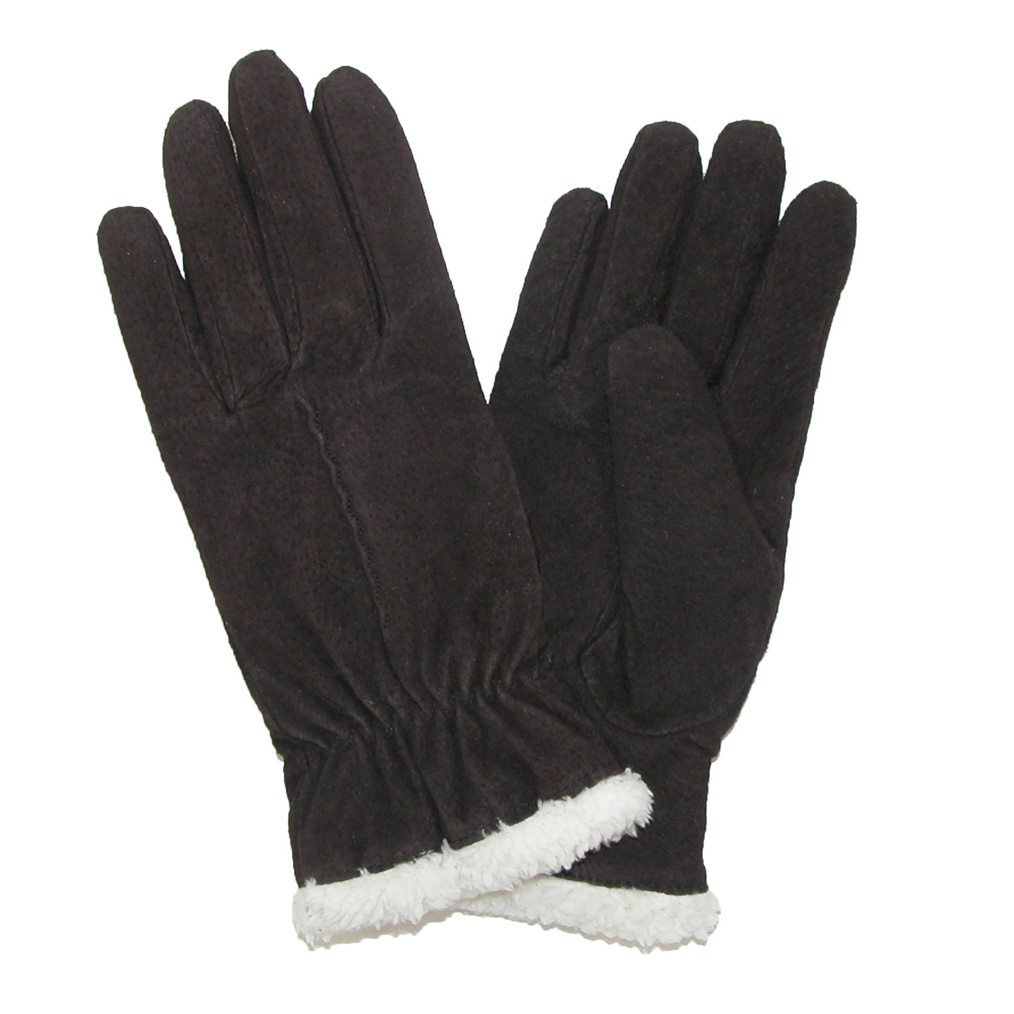 Isotoner womens leather gloves with fleece lining - Picture 6 Of 14
