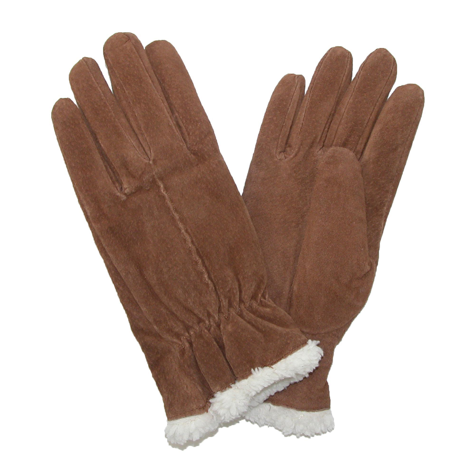Isotoner womens leather gloves with fleece lining -  Picture 12 Of 14