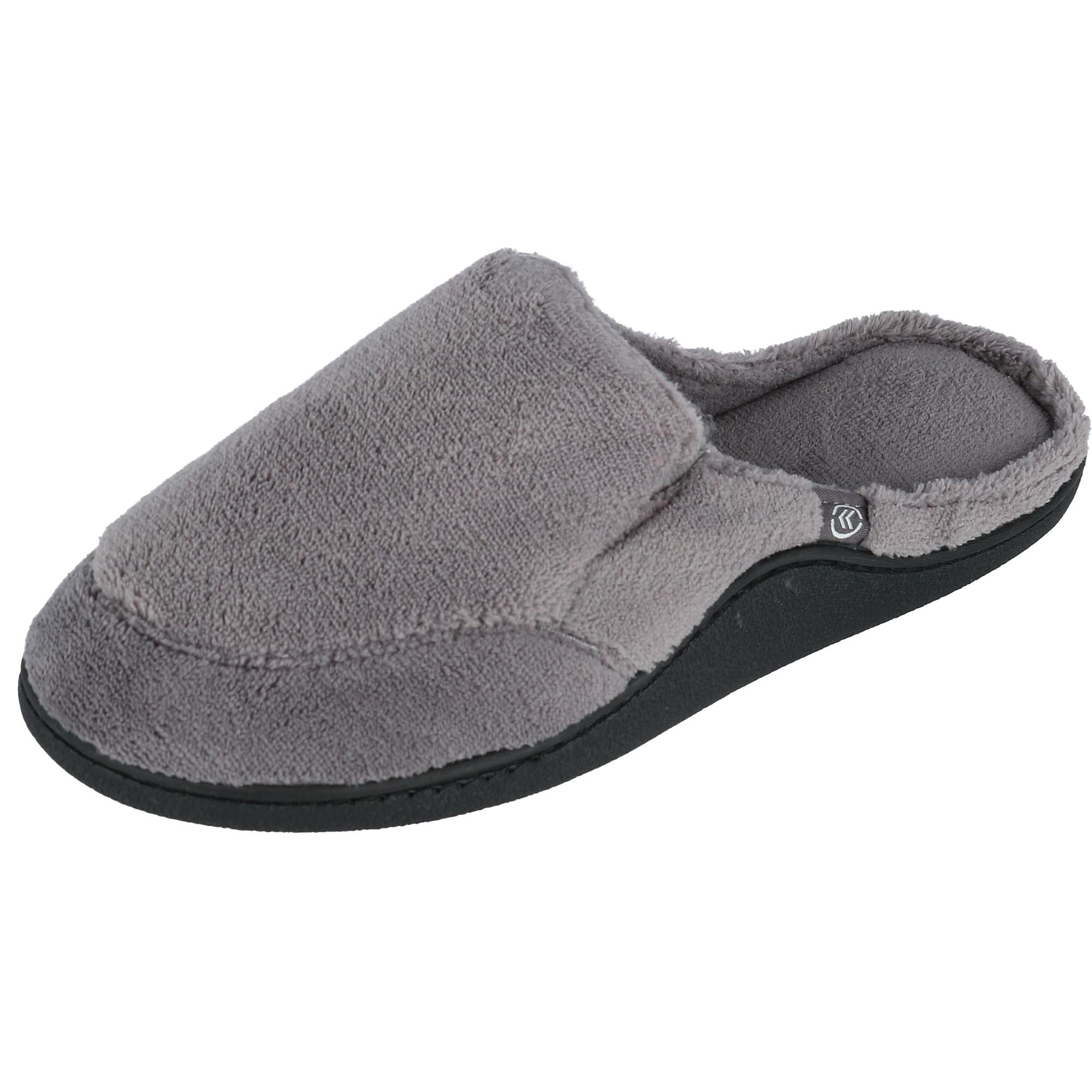 Isotoner Mens Microterry Open Back Clog Slippers