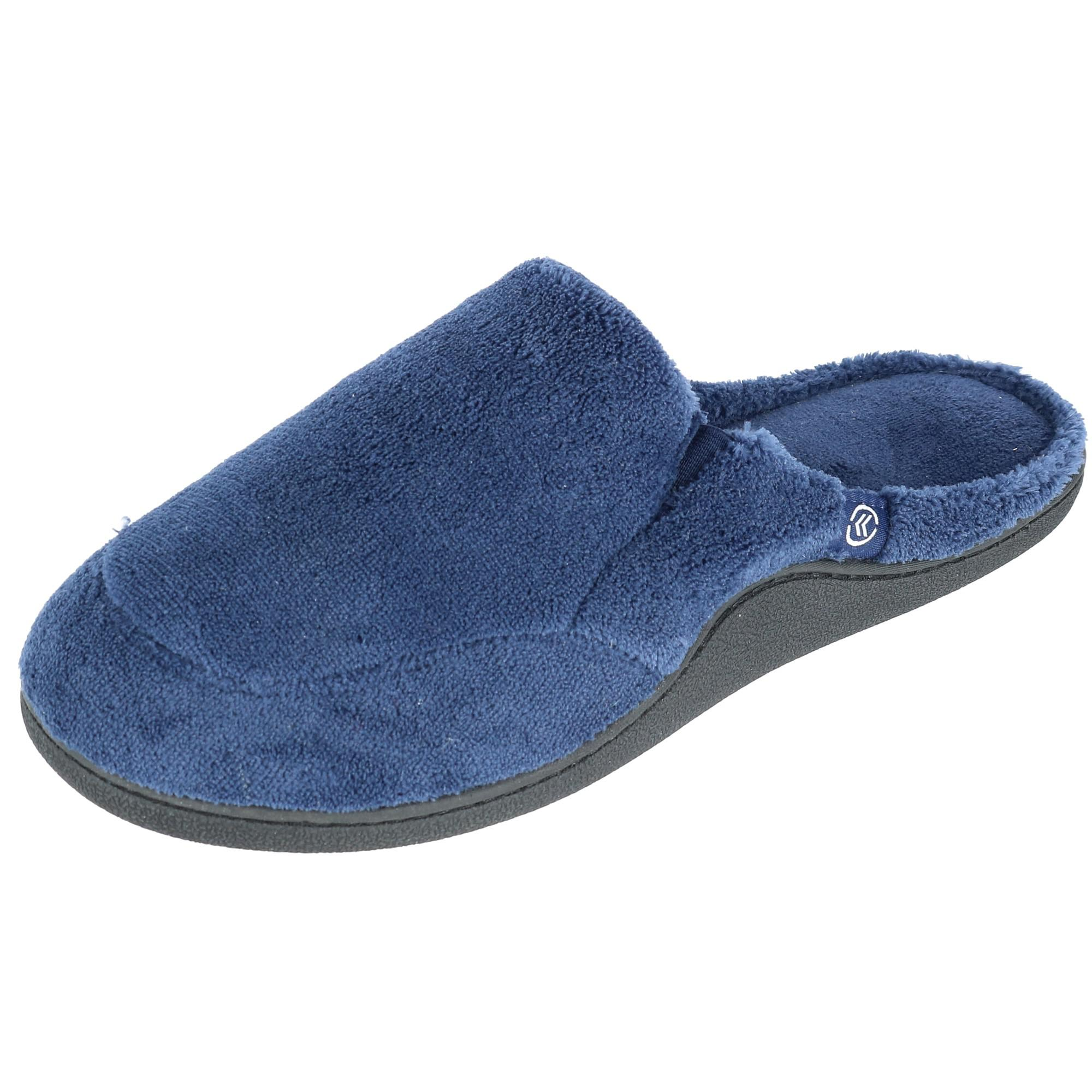 6be29d317 ISOTONER Mens Microterry Open Back Clog Slippers Medium Navy. About this  product. Picture 1 of 7  Picture 2 of 7  Picture 3 of 7 ...