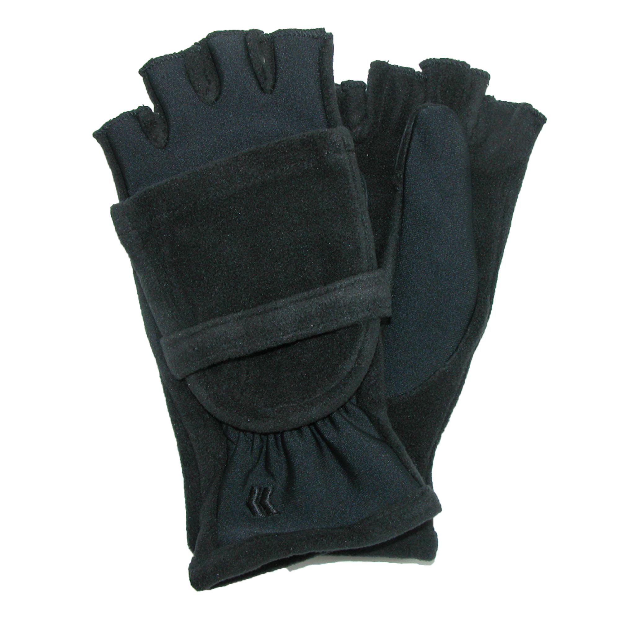 Isotoner Womens Fleece Stretch Convertible Gloves With Thumb Hole