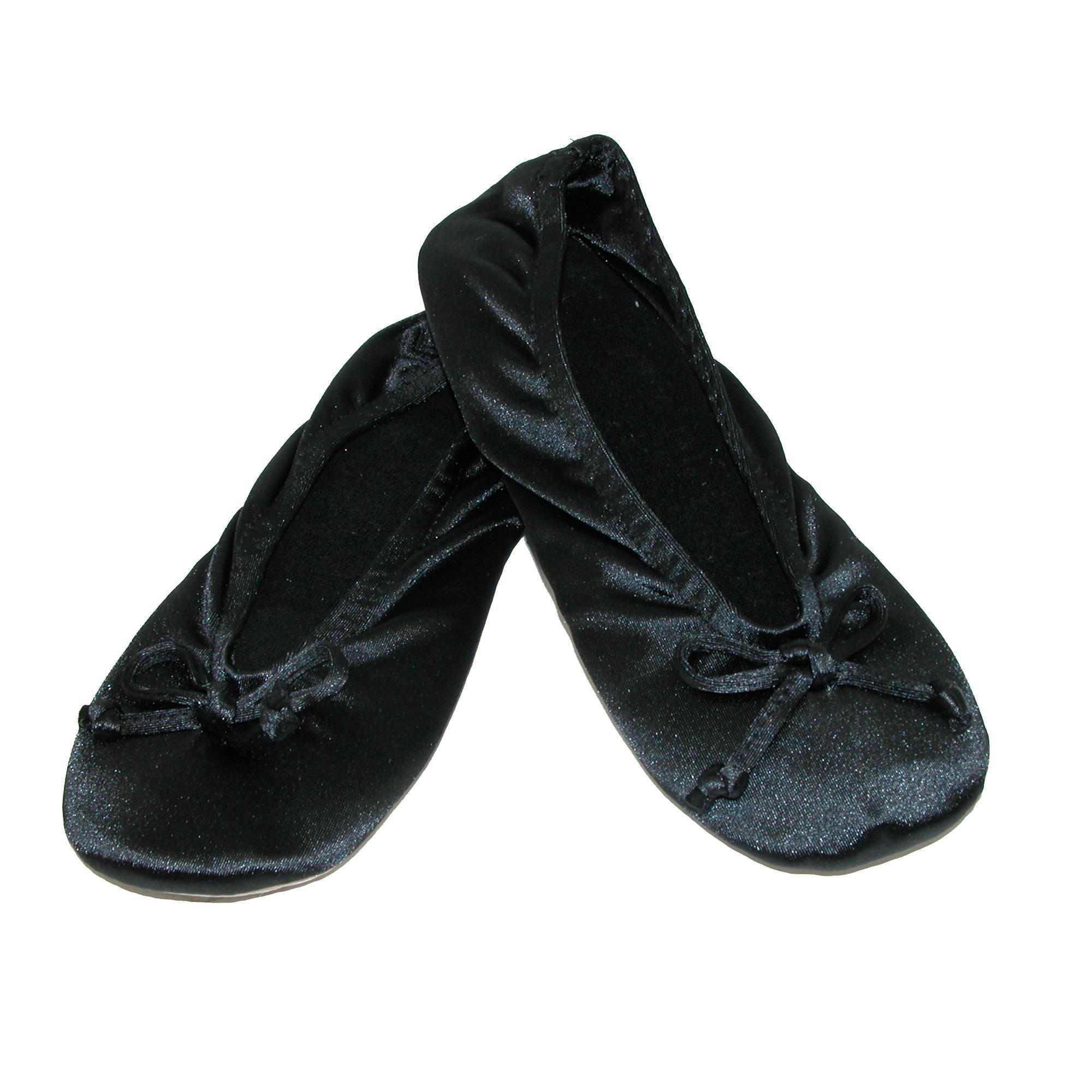 New-Isotoner-Women-039-s-Satin-Classic-Ballerina-Slippers thumbnail 4