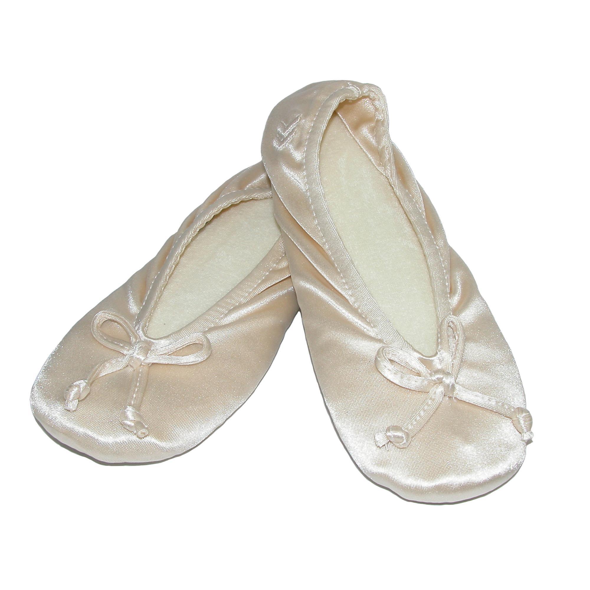 New-Isotoner-Women-039-s-Satin-Classic-Ballerina-Slippers thumbnail 12