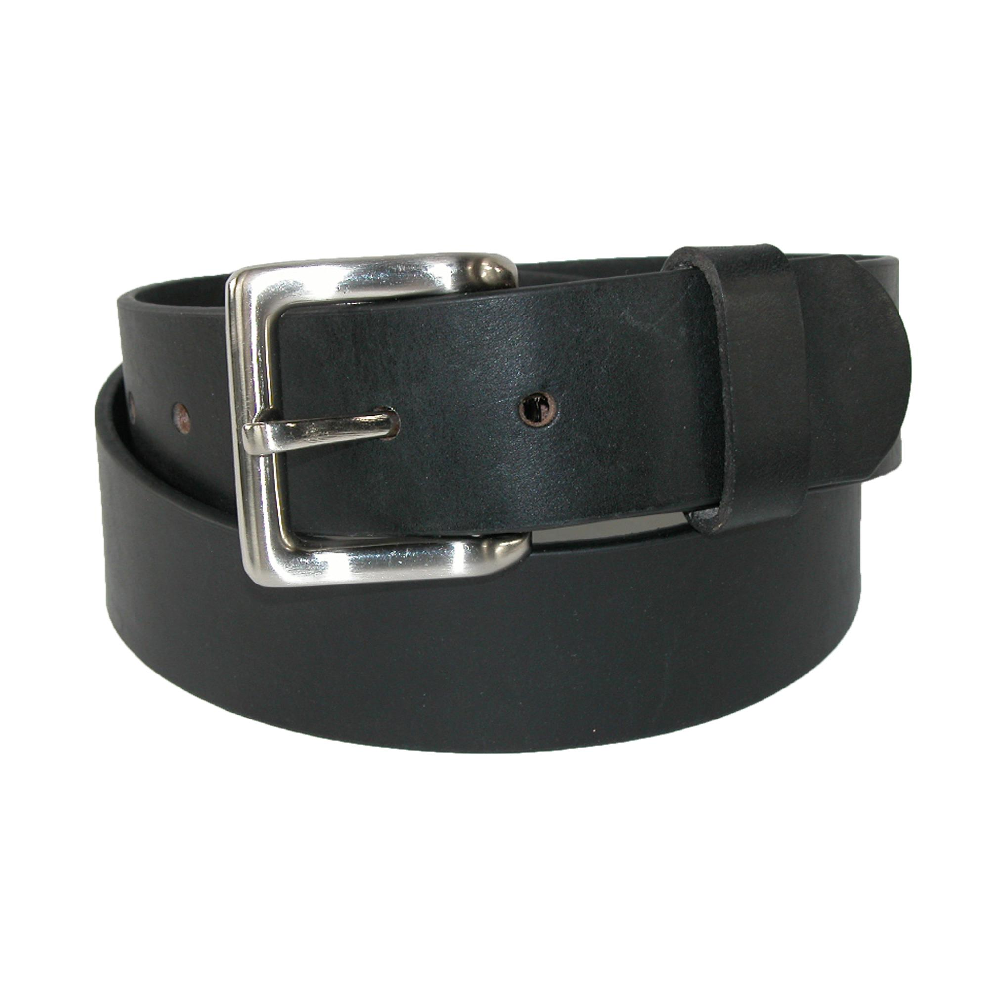 Toneka_Men's_Leather_Bridle_Belt_with_Removable_Buckle_-_Black_40