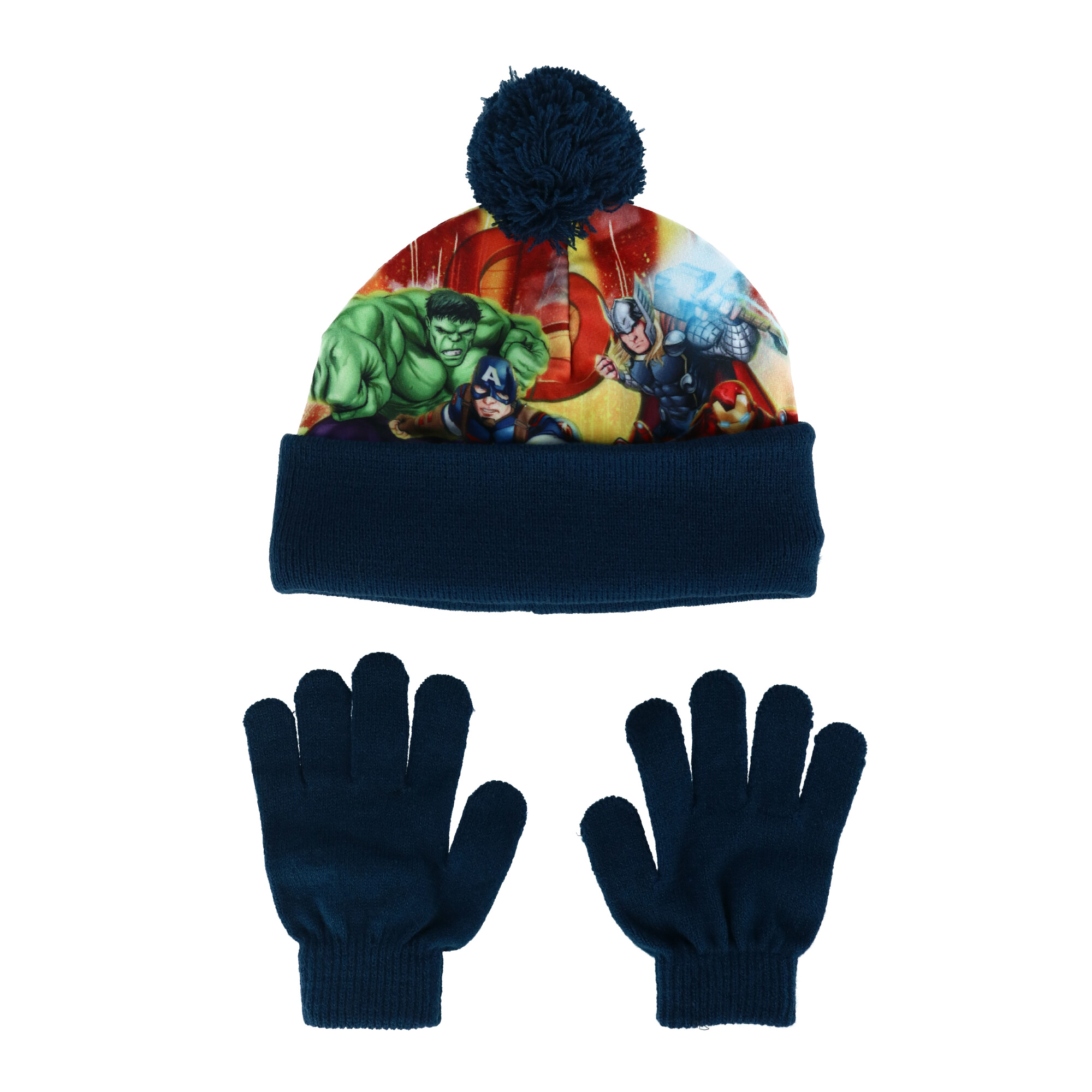 New Textiel Trade Marvel Kids/' Avengers Sublimated Hat and Glove Set