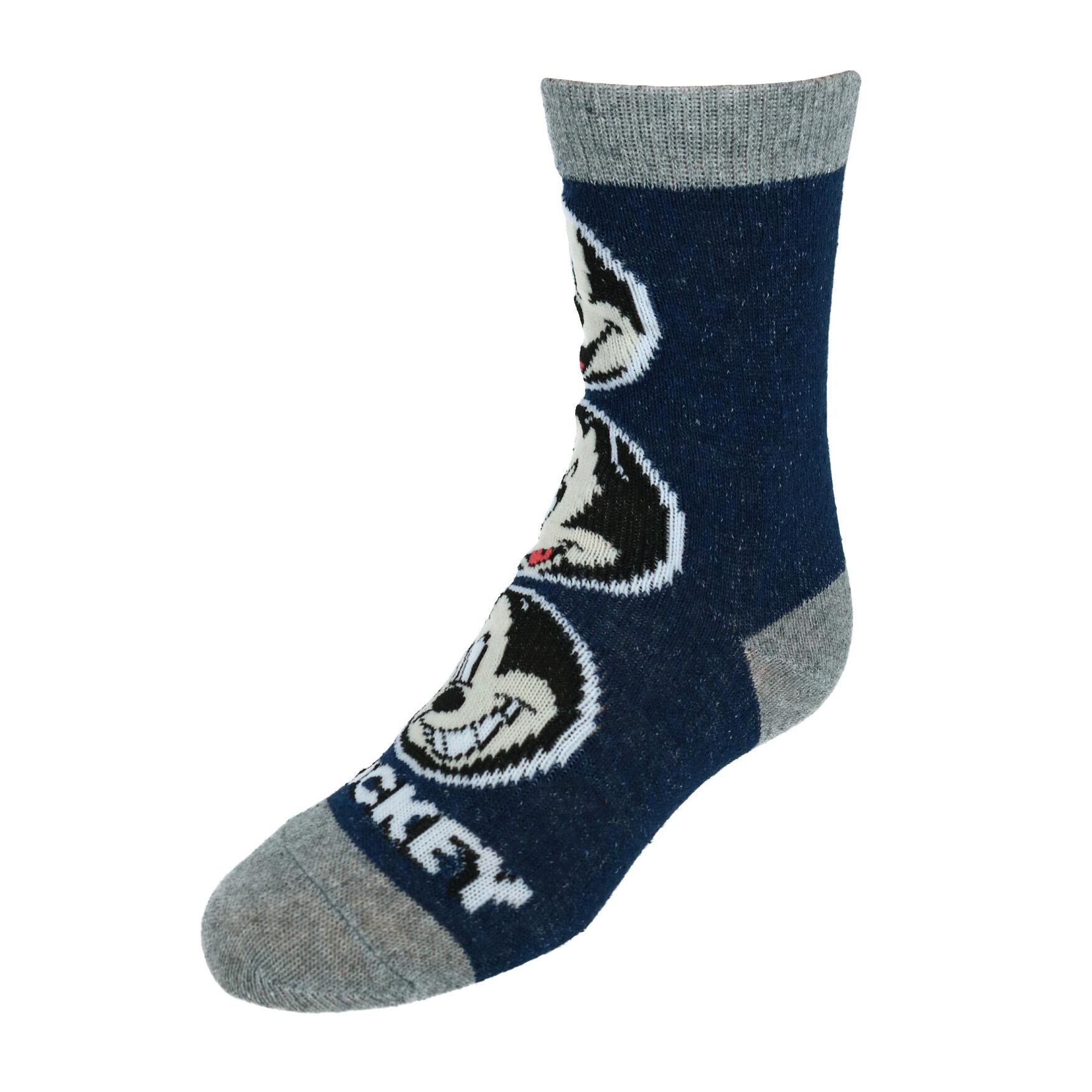 Disney Mickey Mouse Boys Crew Socks Striped Multi Color 3 Pair Shoe Size 4-8.5