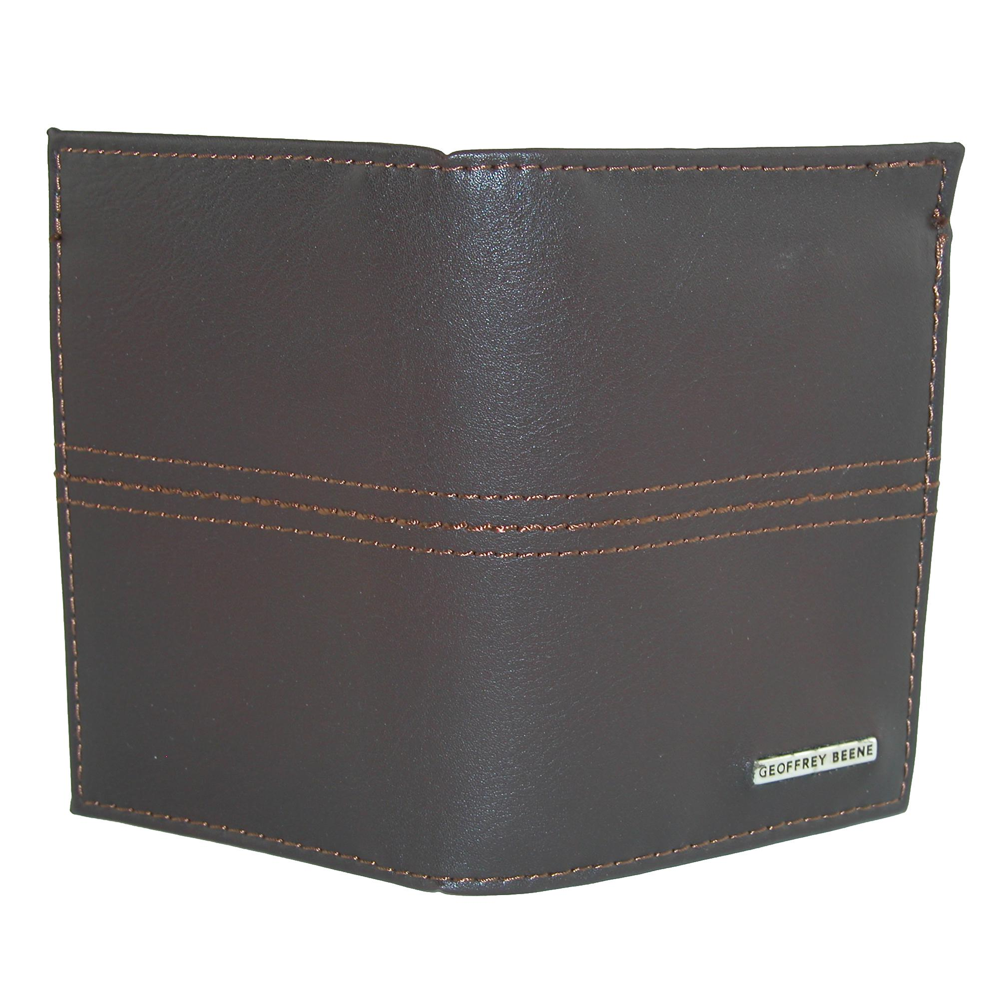 4c1f05cb5834 New Geoffrey Beene Men s Leather RFID Protected L-Fold Wallet