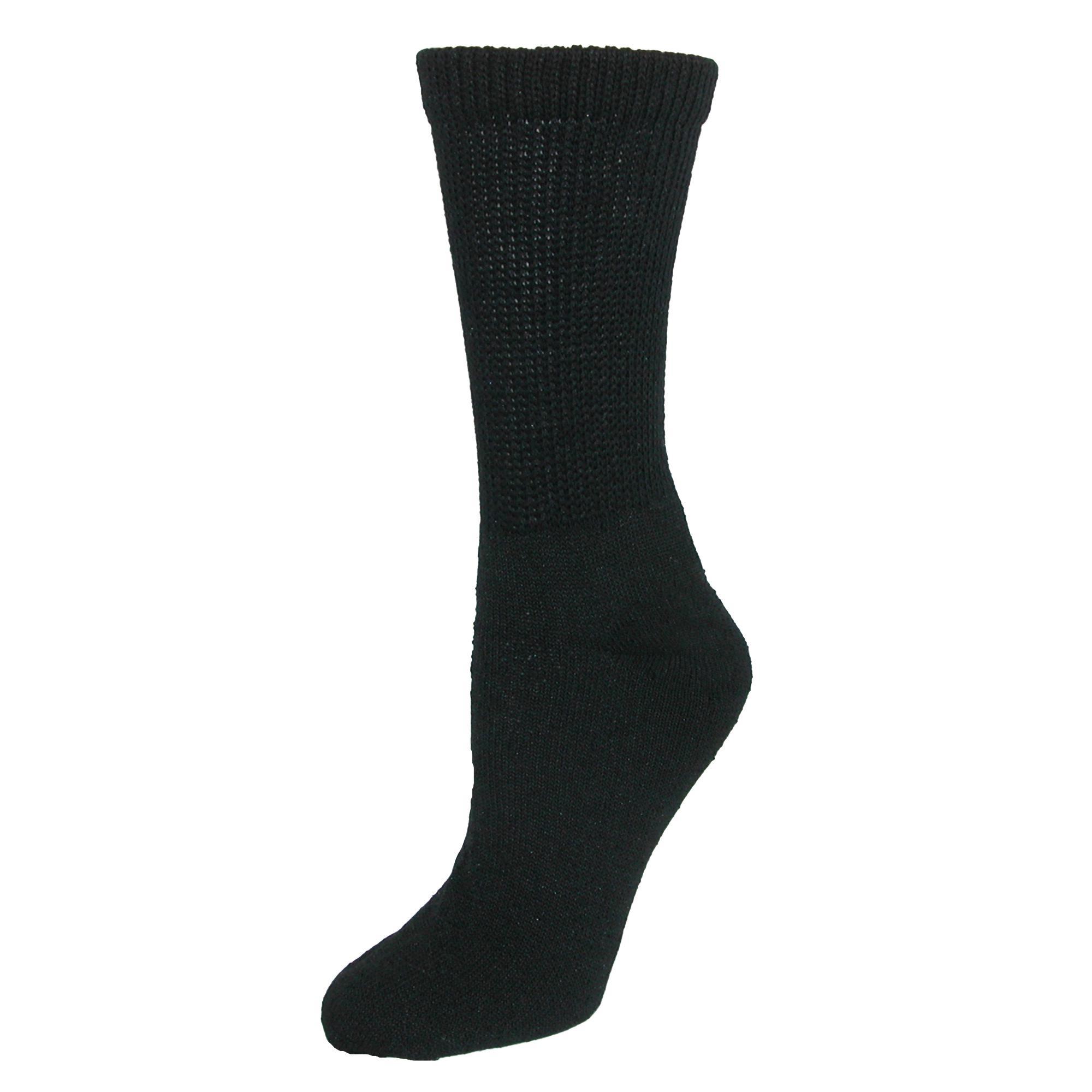 Ctm Womens Diabetic Crew Socks (3 Pair Pack)