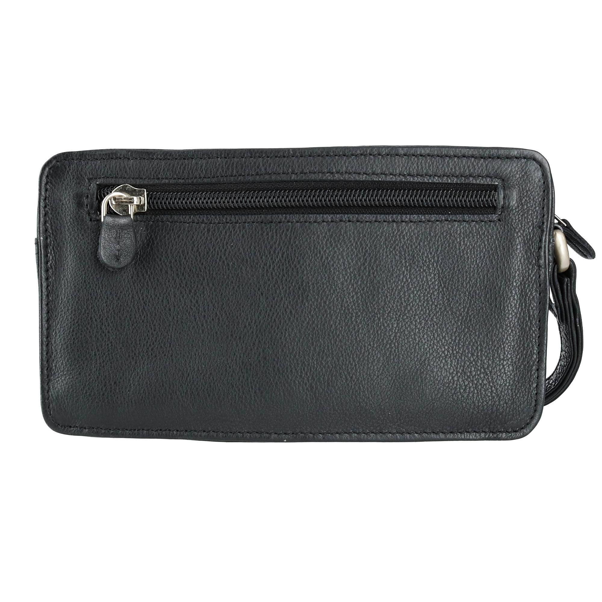 OMNIA -Black MB703M MEN/'S GENUINE LEATHER Clutch Bag Wrist