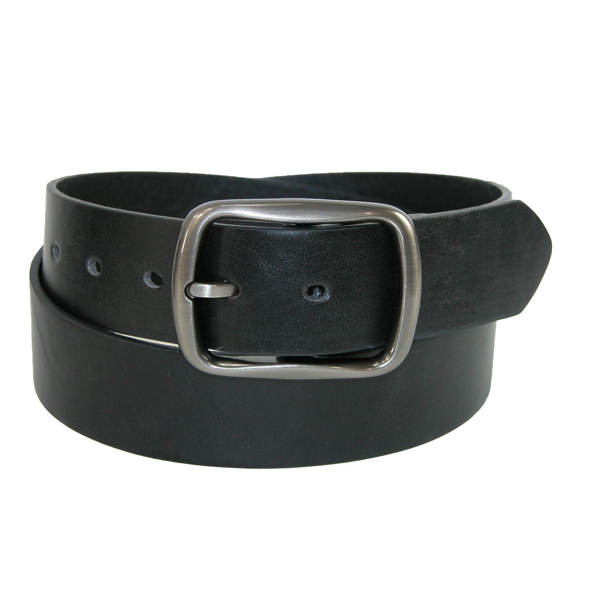 Ctm Mens Casual Center Bar Buckle Belt