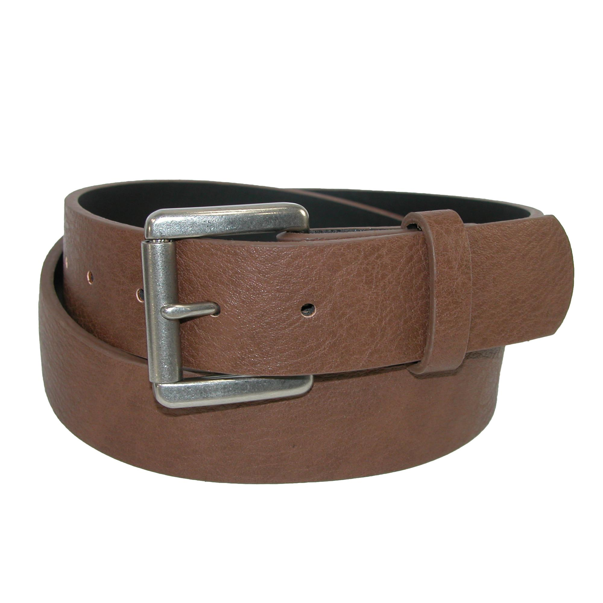 Ctm Mens Bridle Belt With Removable Roller Buckle