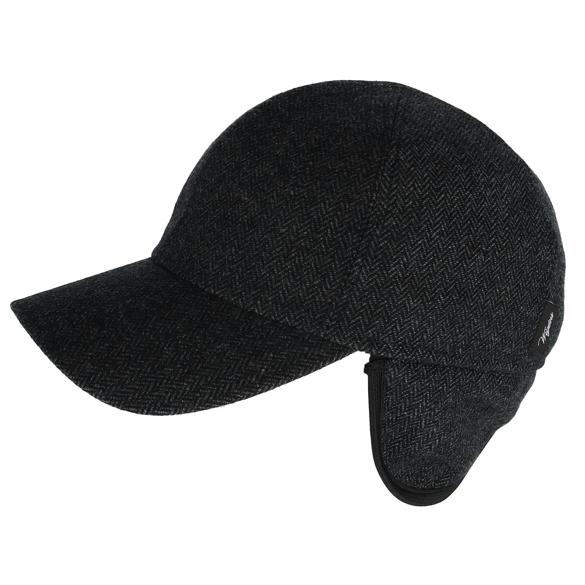 New Wigens Men s Herringbone Blend Baseball Cap with Earflaps  32000206e32