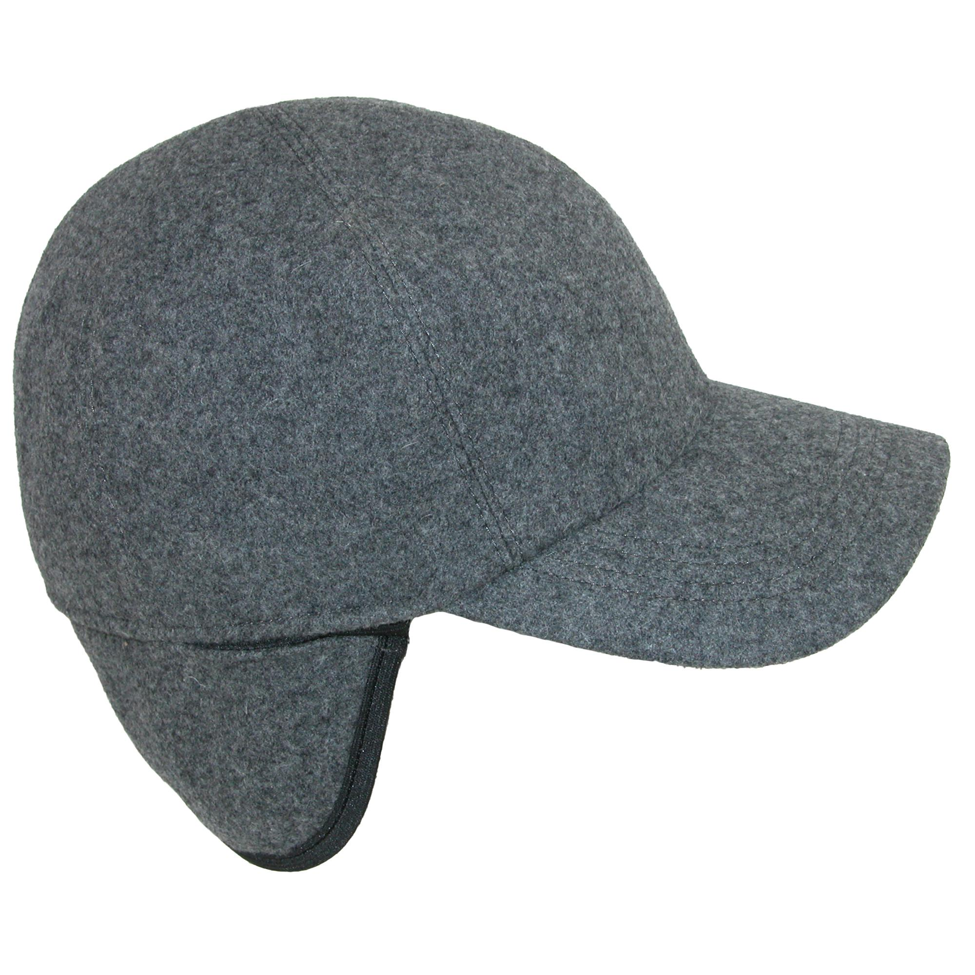 New Wigens Men s Wool Baseball Cap with Earflaps  c8788d96d17