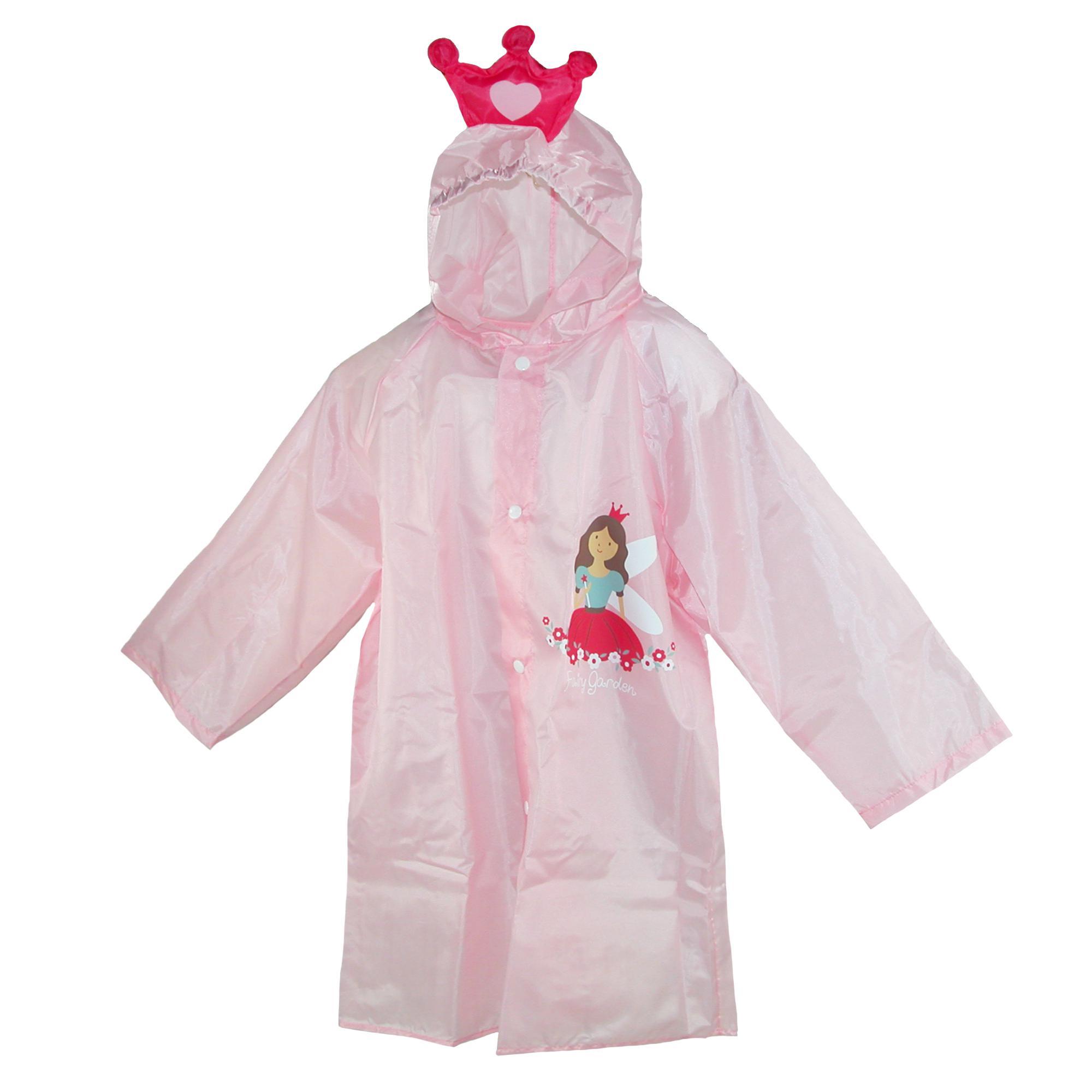 CTM Kid's Princess Rain Coat with Pouch
