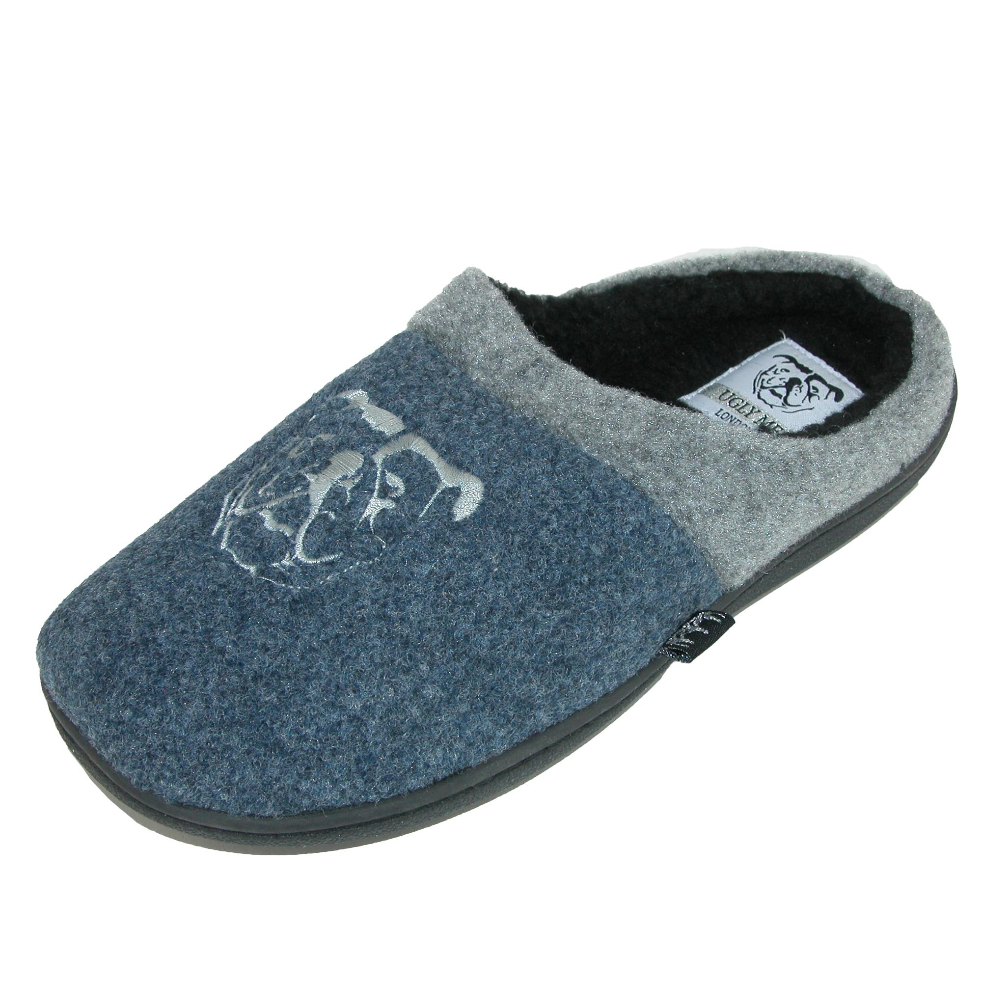 Ugly Me Mens Open Back Microfiber Joel Mule Slipper