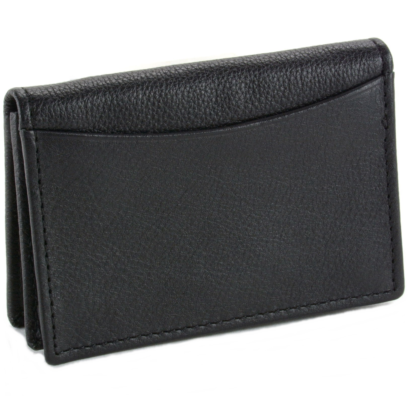 Alpine Swiss Expandable Business Card Case Genuine Leather Front ...