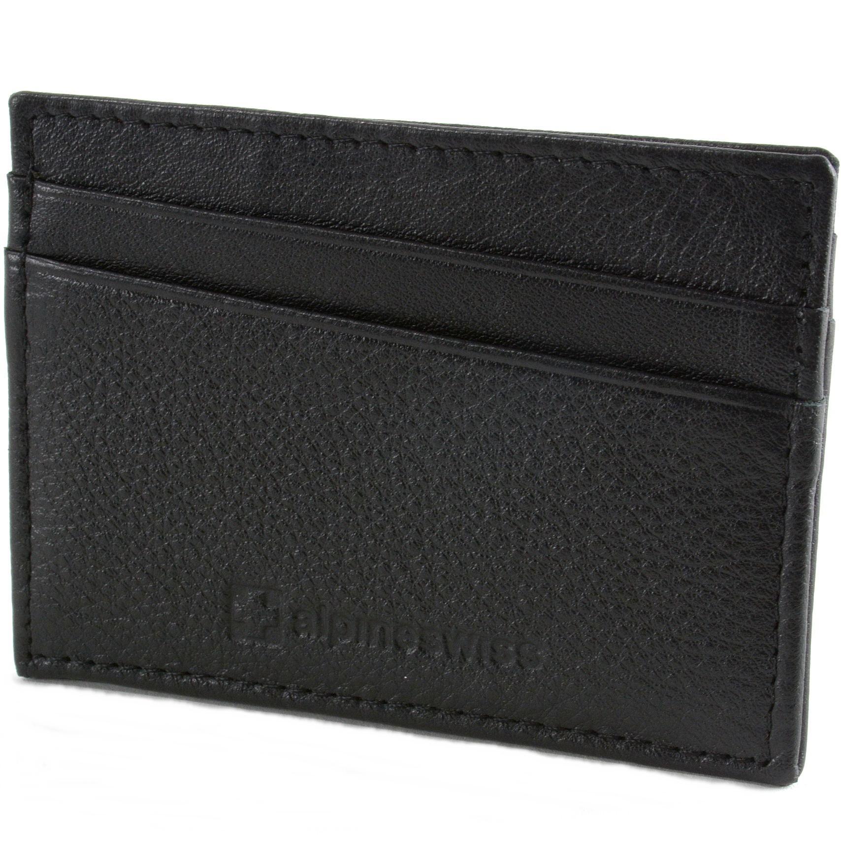 Alpine-Swiss-Minimalist-Leather-Front-Pocket-Wallet-5-Card-Slots-Slim-Thin-Case thumbnail 22