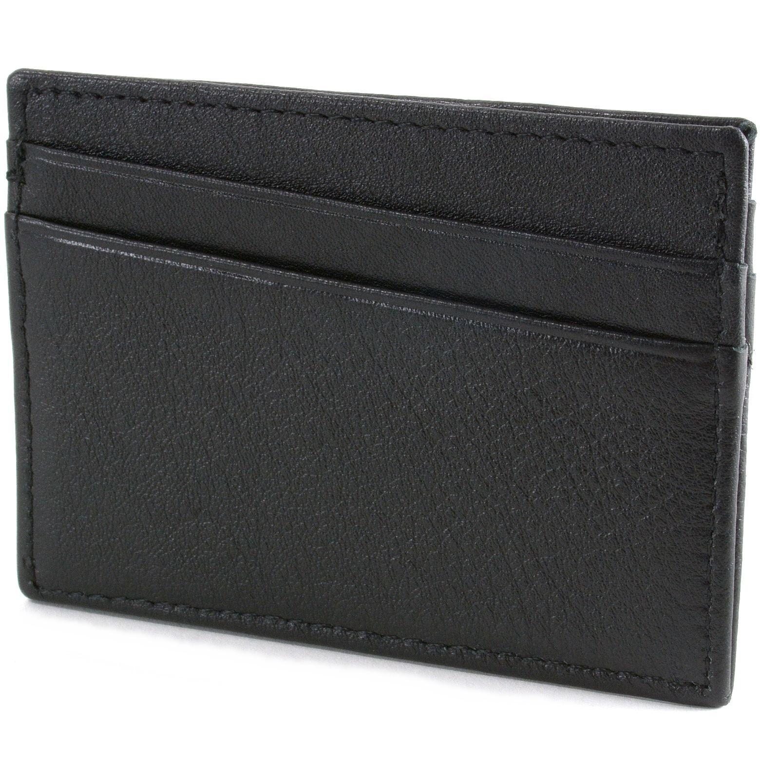 Alpine-Swiss-Minimalist-Leather-Front-Pocket-Wallet-5-Card-Slots-Slim-Thin-Case thumbnail 19