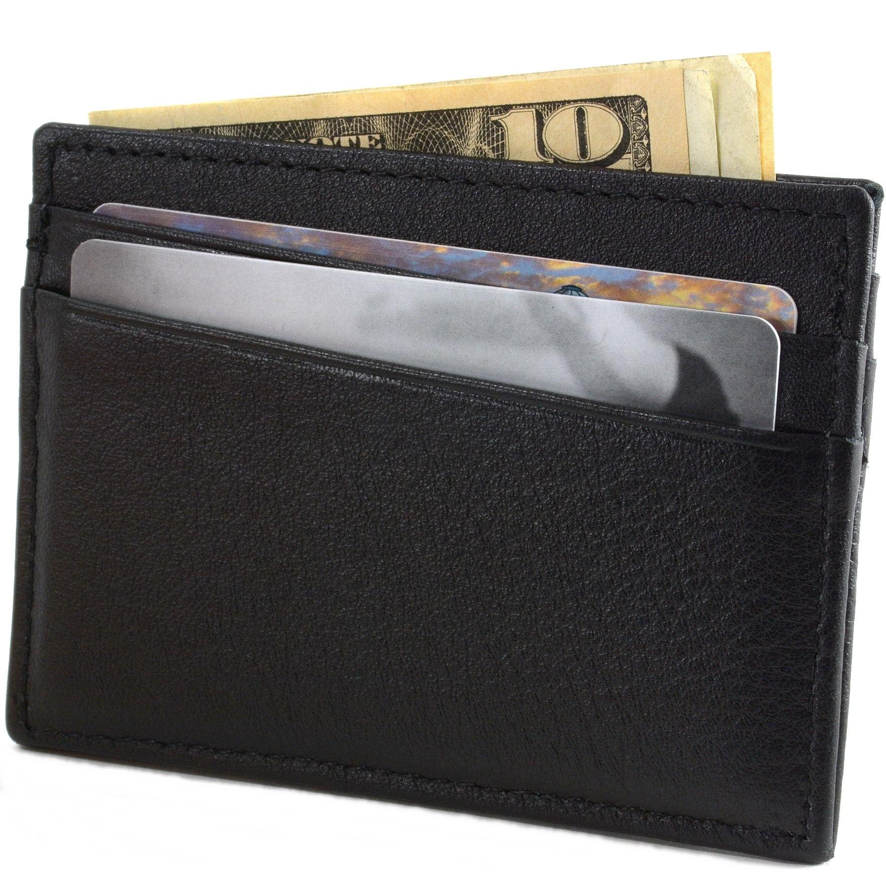Alpine-Swiss-Minimalist-Leather-Front-Pocket-Wallet-5-Card-Slots-Slim-Thin-Case thumbnail 23