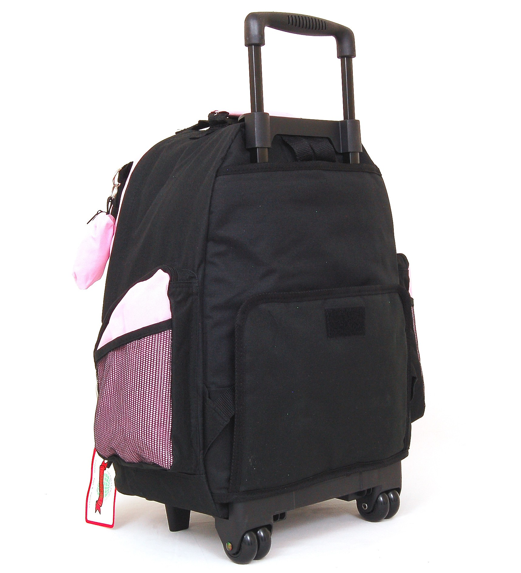 "18"" Wheeled Backpack Roomy Rolling Book Bag W/ Handle ..."