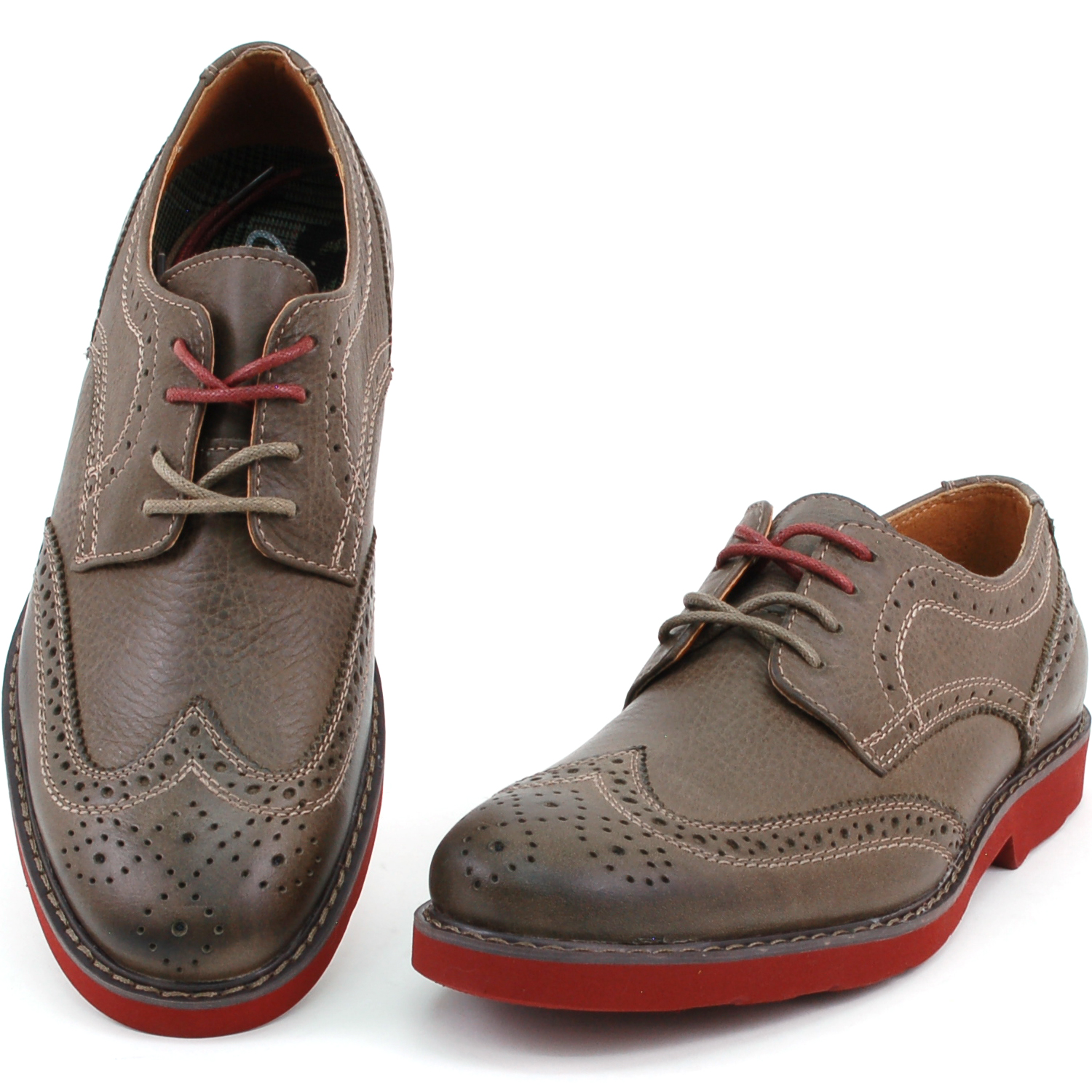 Mens Wingtip Oxfords Real Leather Casual   Dress Fashionable Trendy Look by  GBX 6b0a7c418690