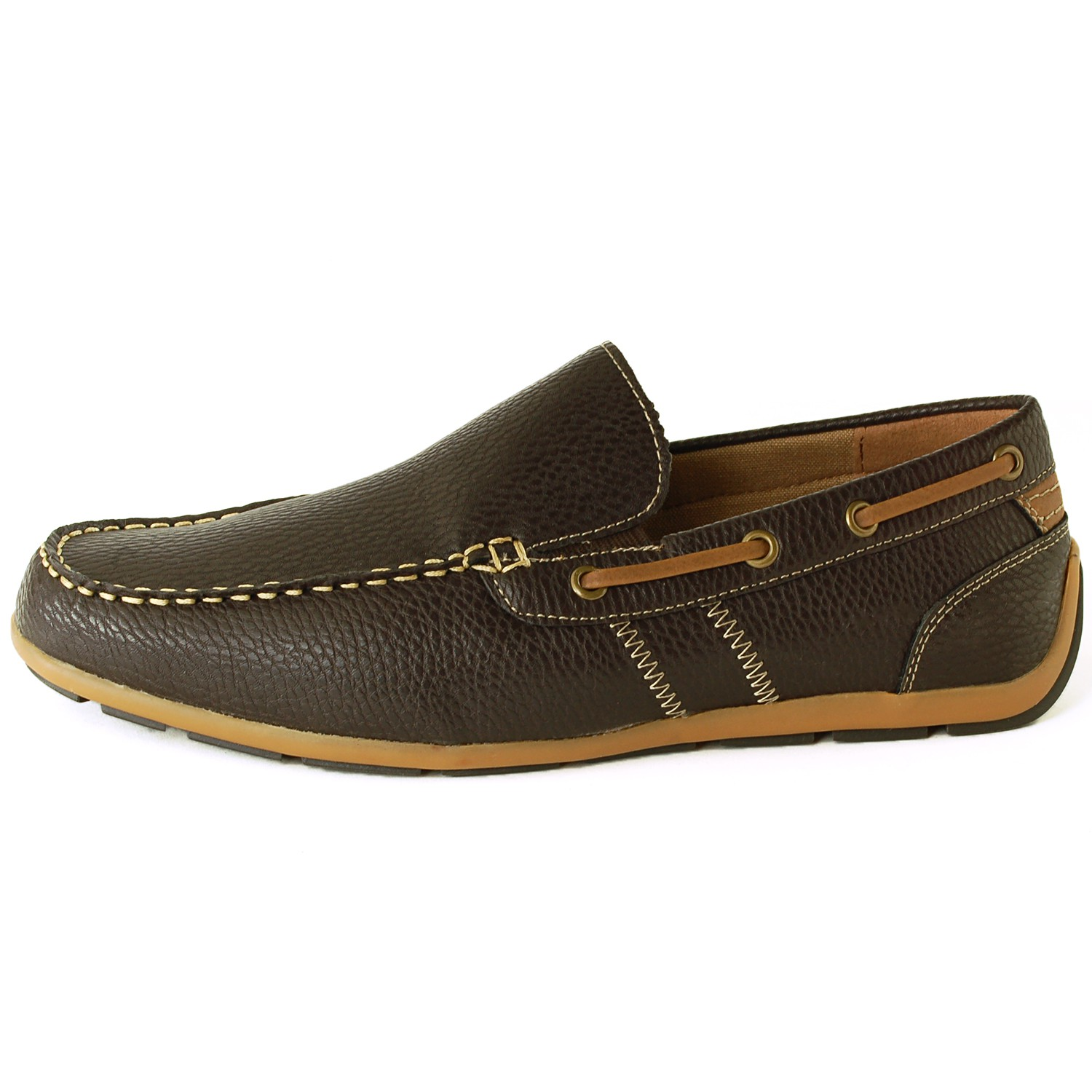 GBX Mens Casual Loafers Slip On Double Gore Moc Toe Boat ...