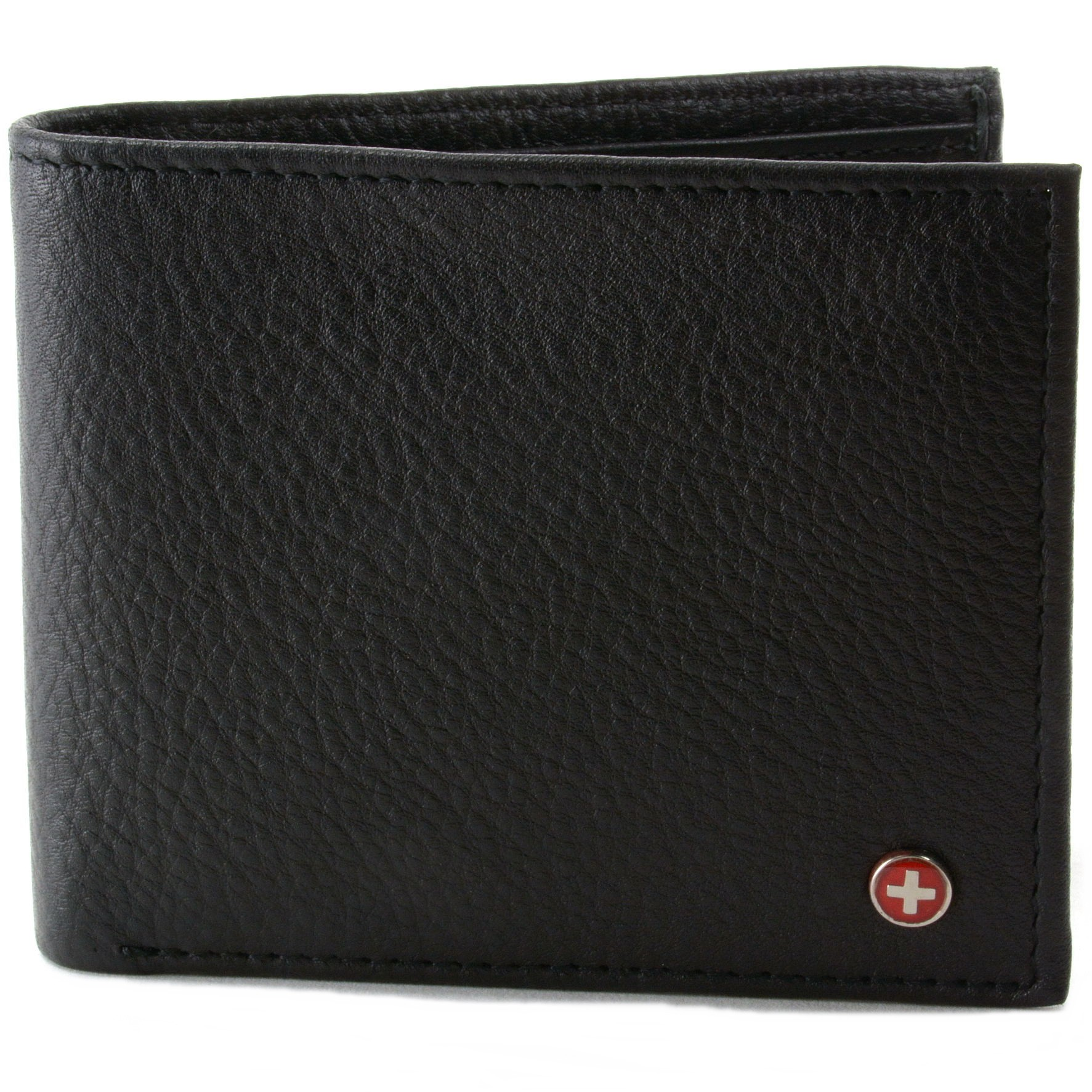 Mens Leather Bifold Wallet Coin Pocket Purse Pouch Alpine Swiss 2 Bill Sections | eBay