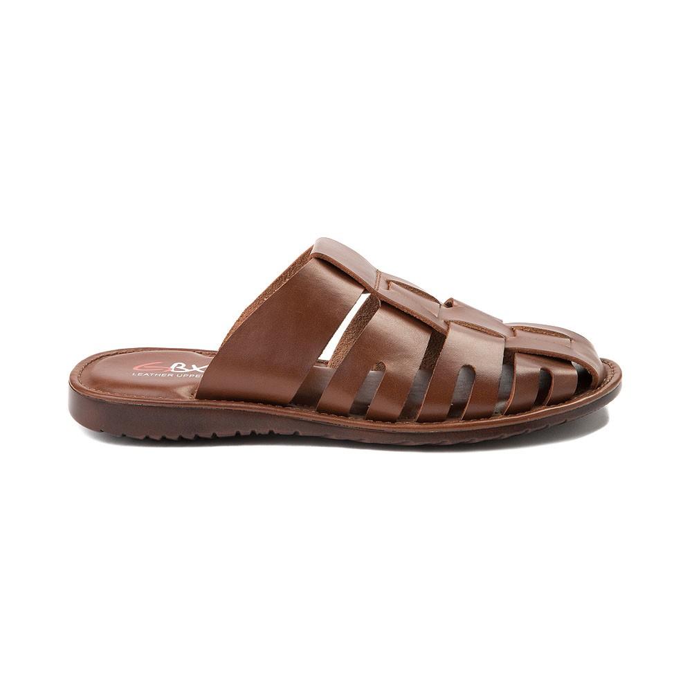 cf768b3ea471 GBX Shae Men s Leather Fisherman Slide Sandals Closed Toe Mule ...