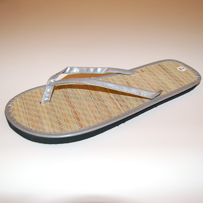 Womens Bamboo Sandal Flip Flops Light Flats Beach Summer Shoe Comfort Thongs New