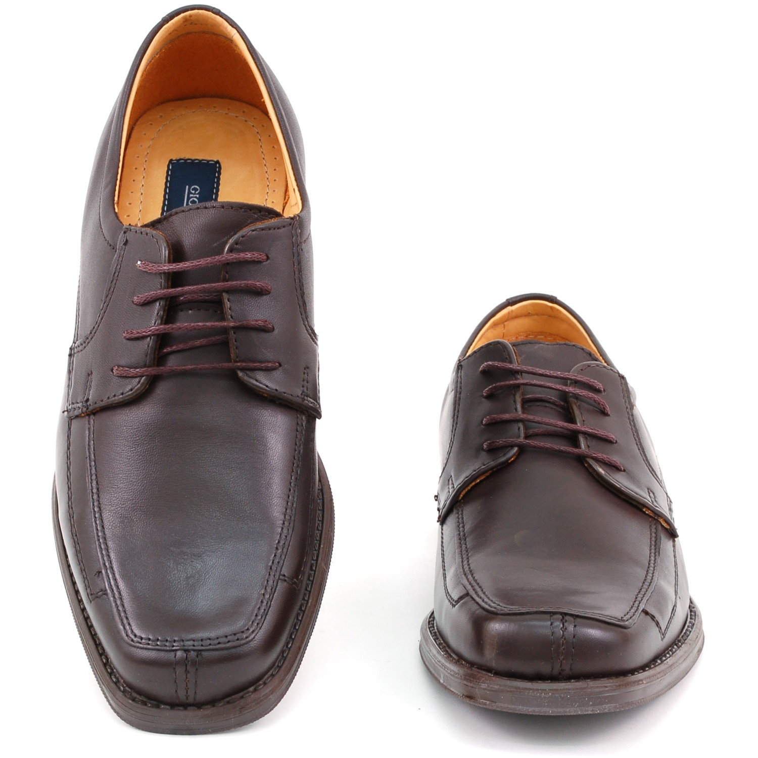Mens-Lace-Up-Oxfords-Dress-Shoes-Genuine-Leather-Moc-Toe-Giorgio-Brutini-Padded thumbnail 18