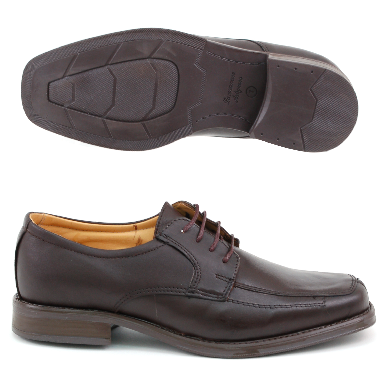 Mens-Lace-Up-Oxfords-Dress-Shoes-Genuine-Leather-Moc-Toe-Giorgio-Brutini-Padded thumbnail 20