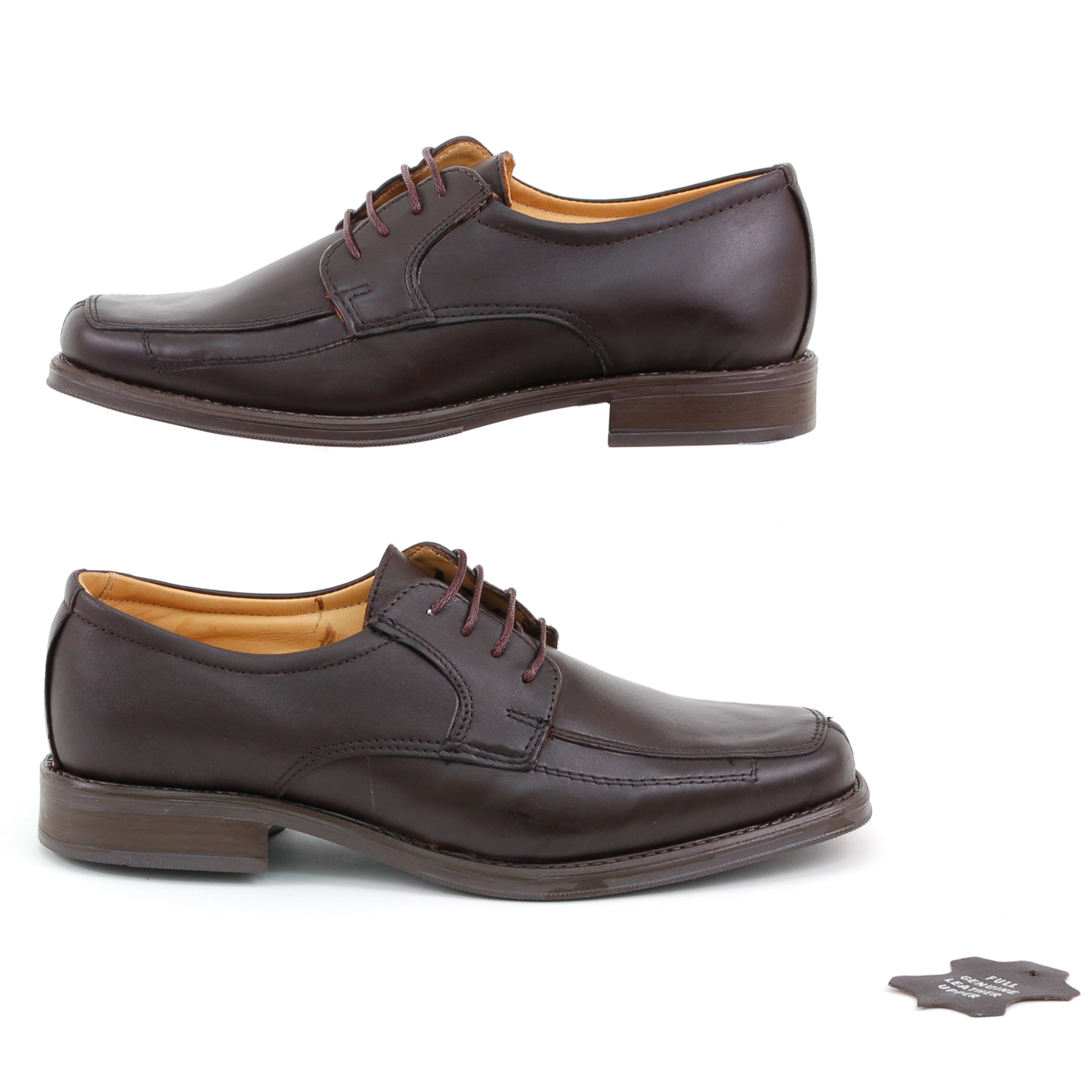 Mens-Lace-Up-Oxfords-Dress-Shoes-Genuine-Leather-Moc-Toe-Giorgio-Brutini-Padded thumbnail 21